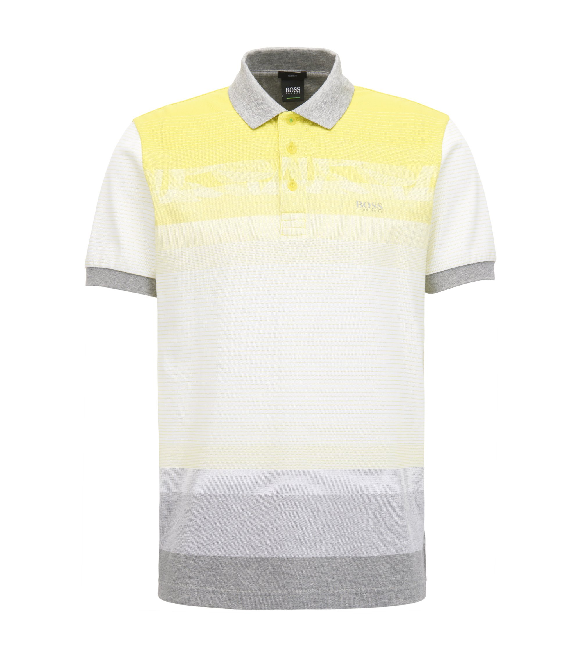 Colorblock Polo Shirt, Slim Fit | Paule, Yellow