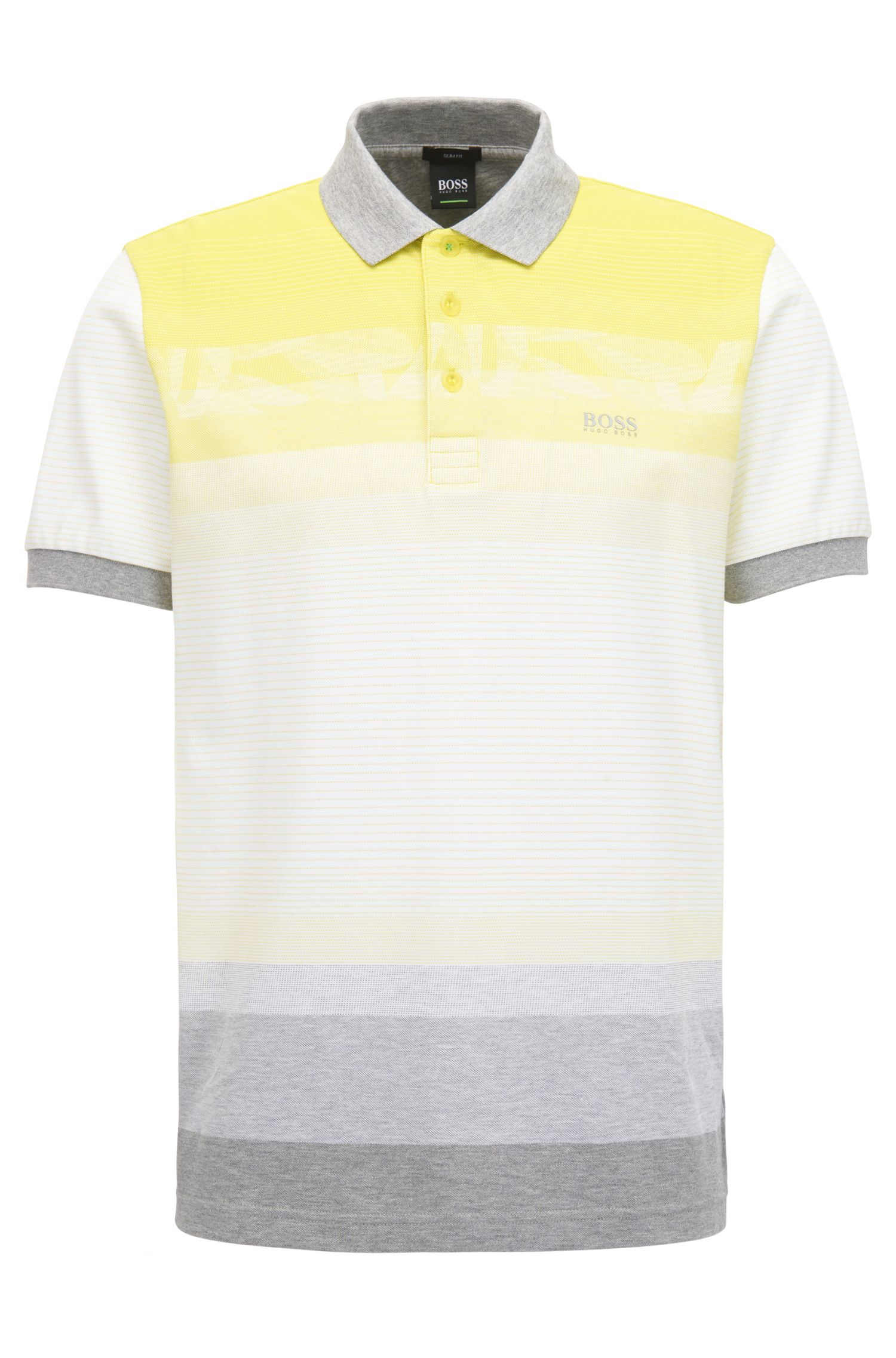 Colorblock Polo Shirt, Slim Fit | Paule