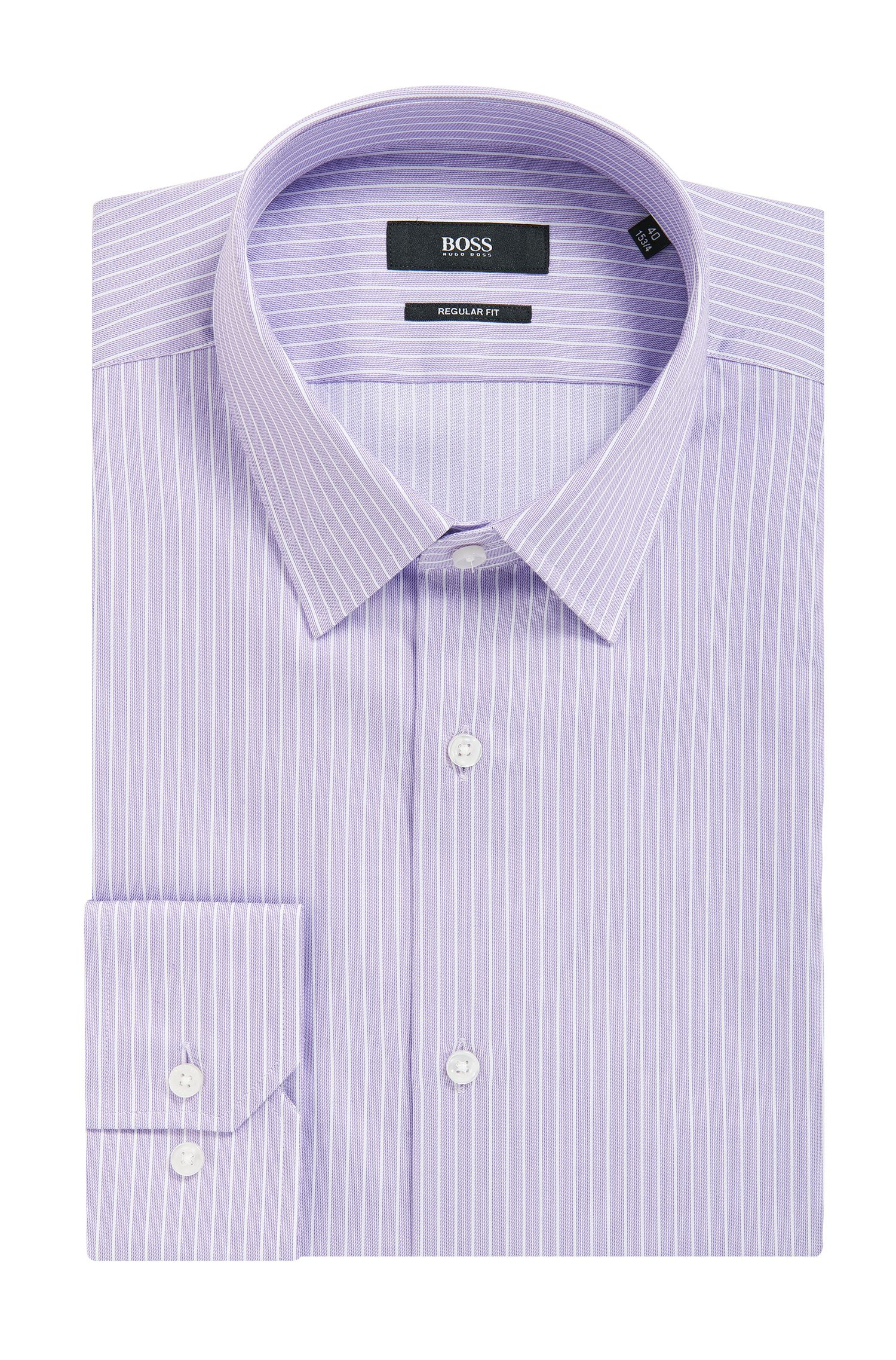 Cotton Dress Shirt, Regular Fit | Enzo, Purple