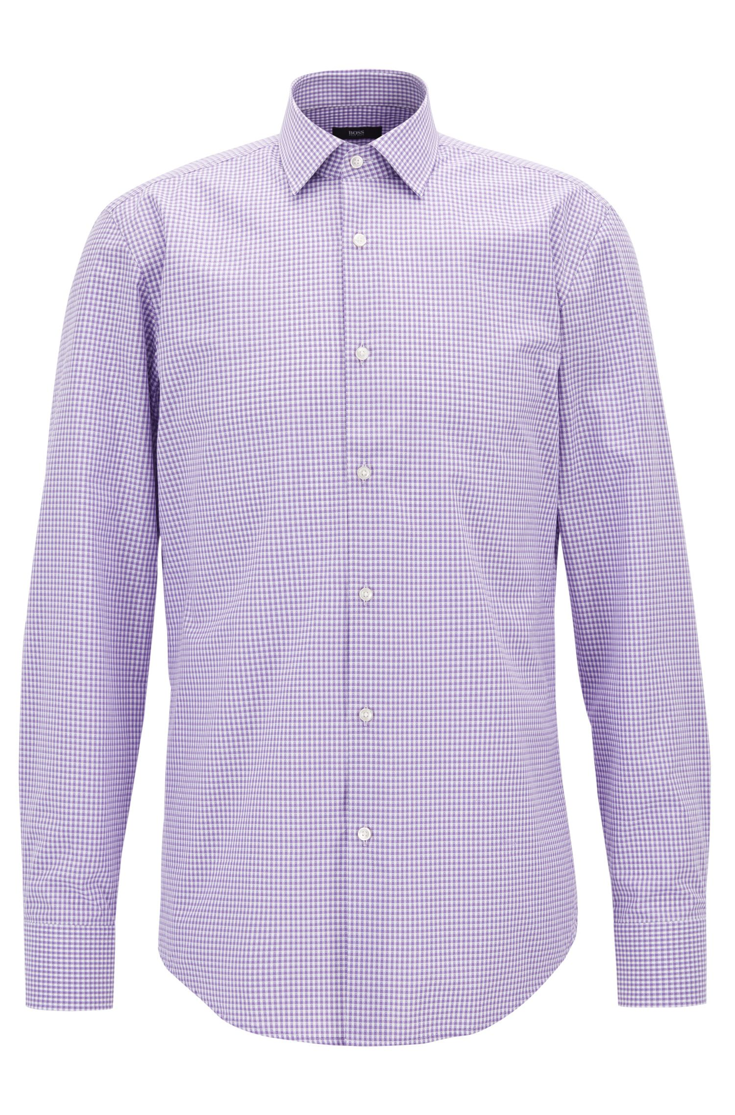 Gingham Cotton Dress Shirt, Slim Fit | Jenno