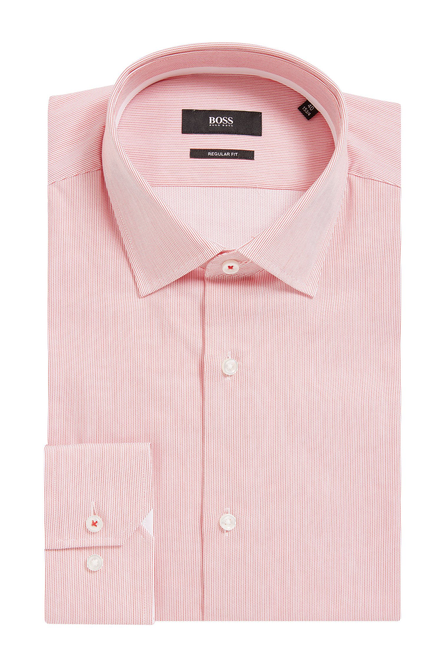 Striped Cotton Dress Shirt, Regular Fit | Gelson