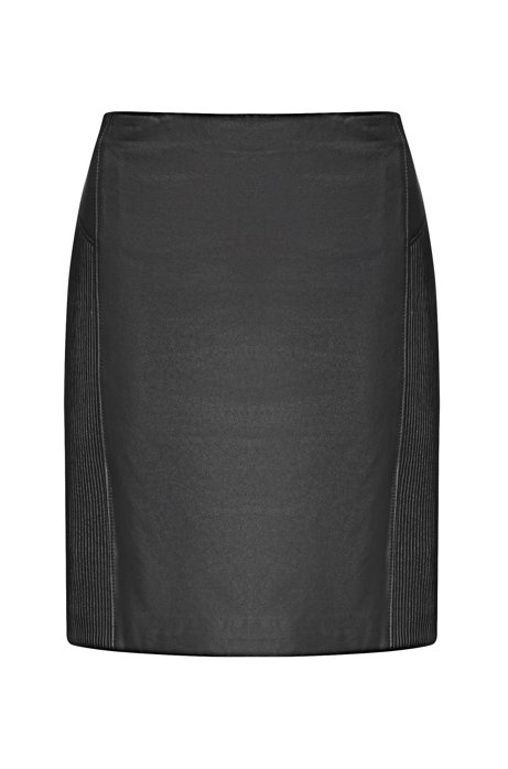 Ribbed Lambskin Skirt | Ladami, Black
