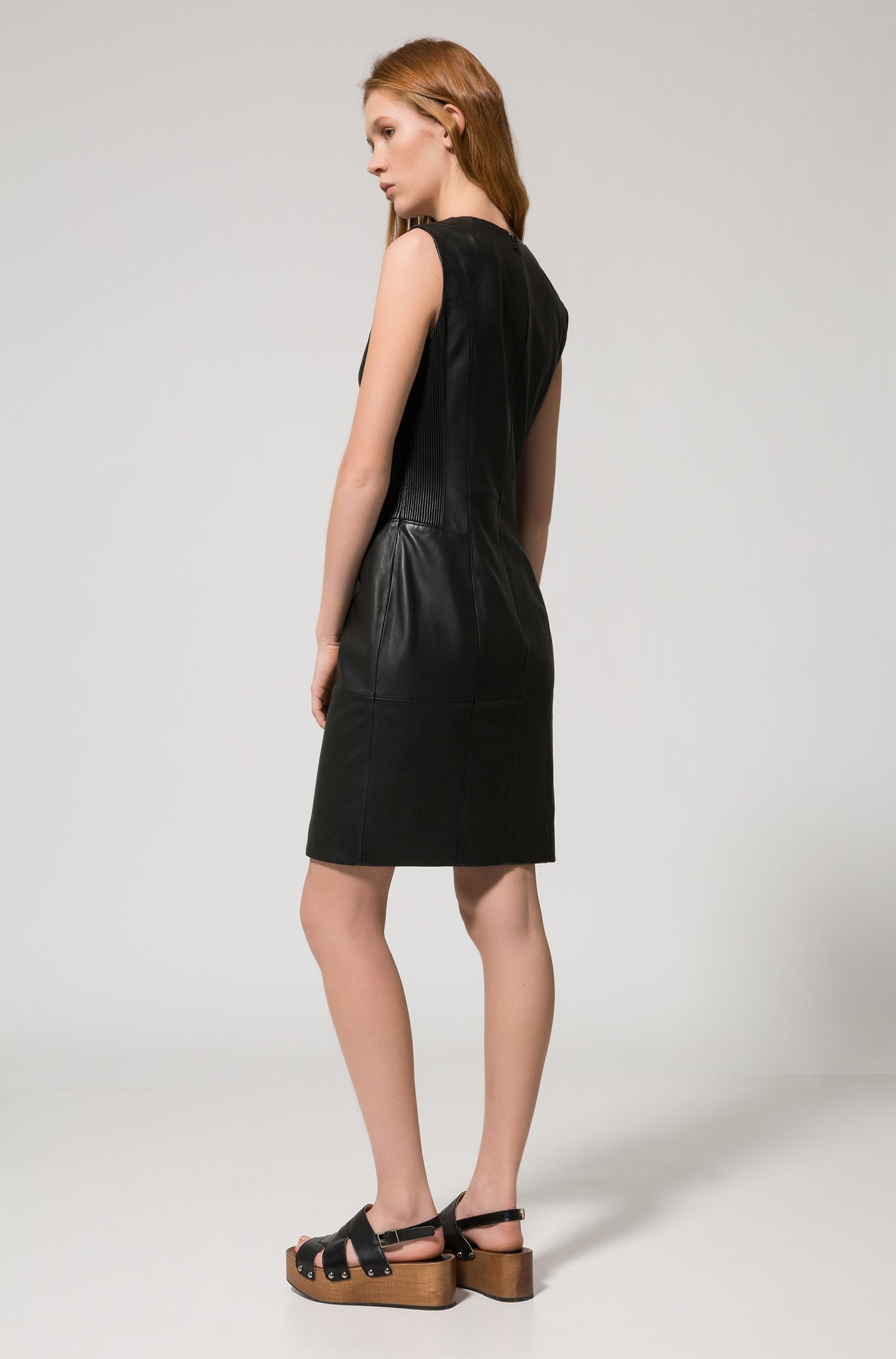 Lamskin Dress | Lavaca, Black