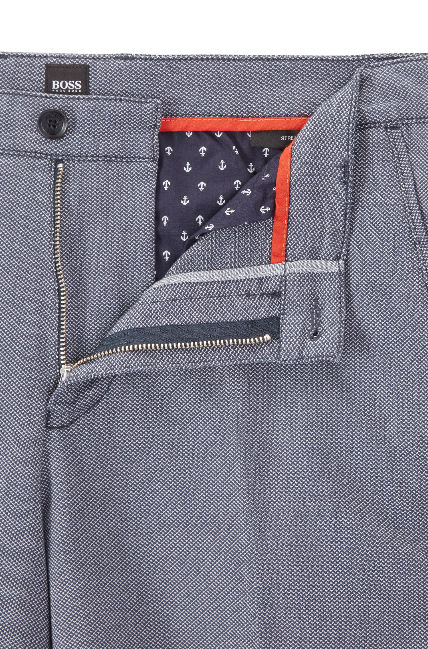 Dobby Stretch Cotton Short, Regular Fit | Crigan Short W