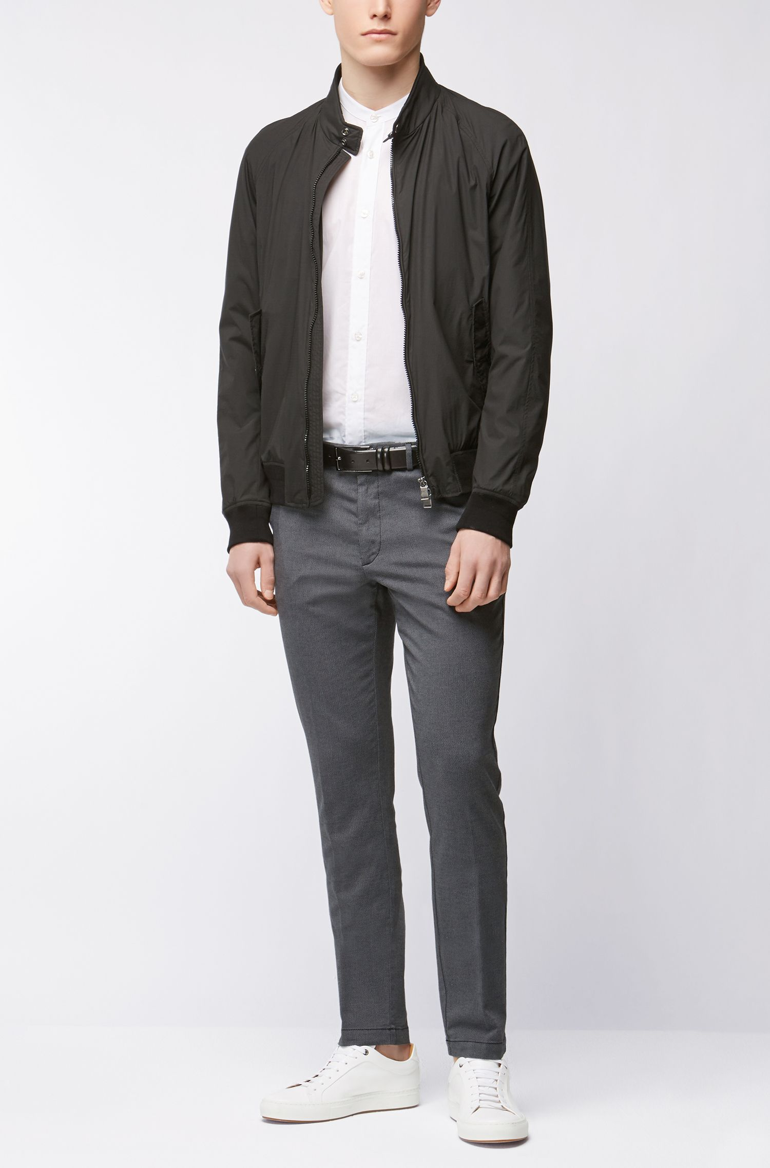 Stretch Cotton Pant, Tapered Fit | Kaito W, Dark Grey