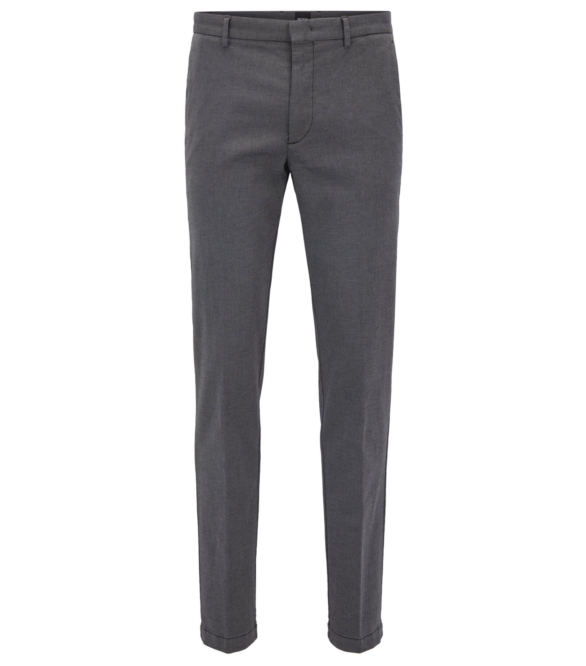 Stretch Cotton Pant, Slim Fit | Kaito W, Dark Grey