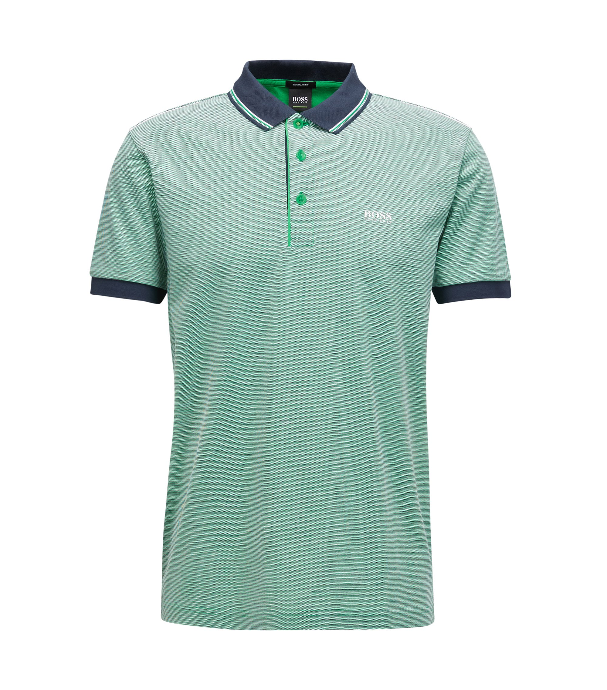 Piqué Cotton Polo Shirt, Regular Fit | Paddy, Green