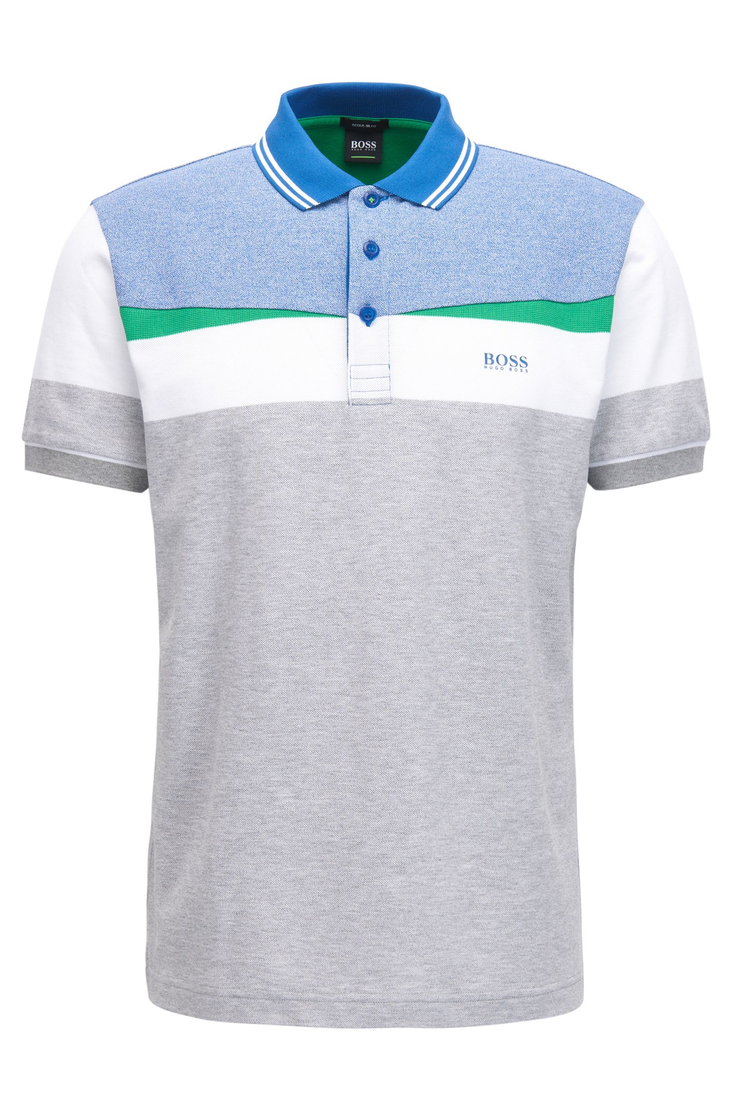 Colorblocked Piqué Cotton Polo Shirt, Regular Fit | Paddy