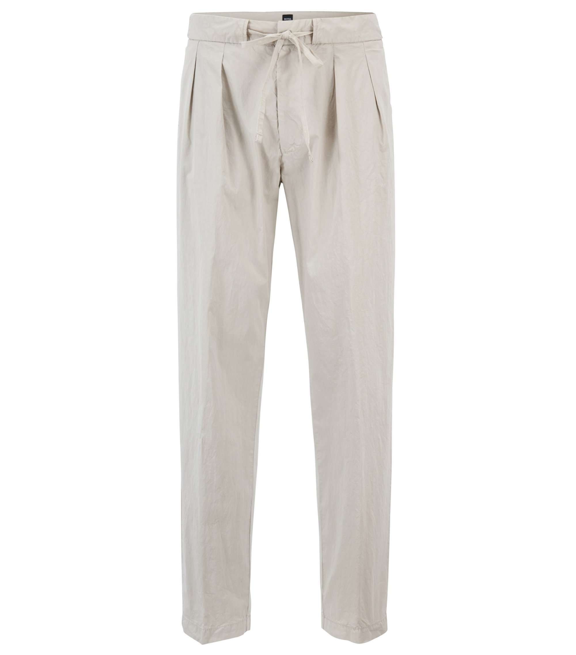 Pleated Drawstring Pant, Relaxed Fit | Paavo Drawstring D, Natural