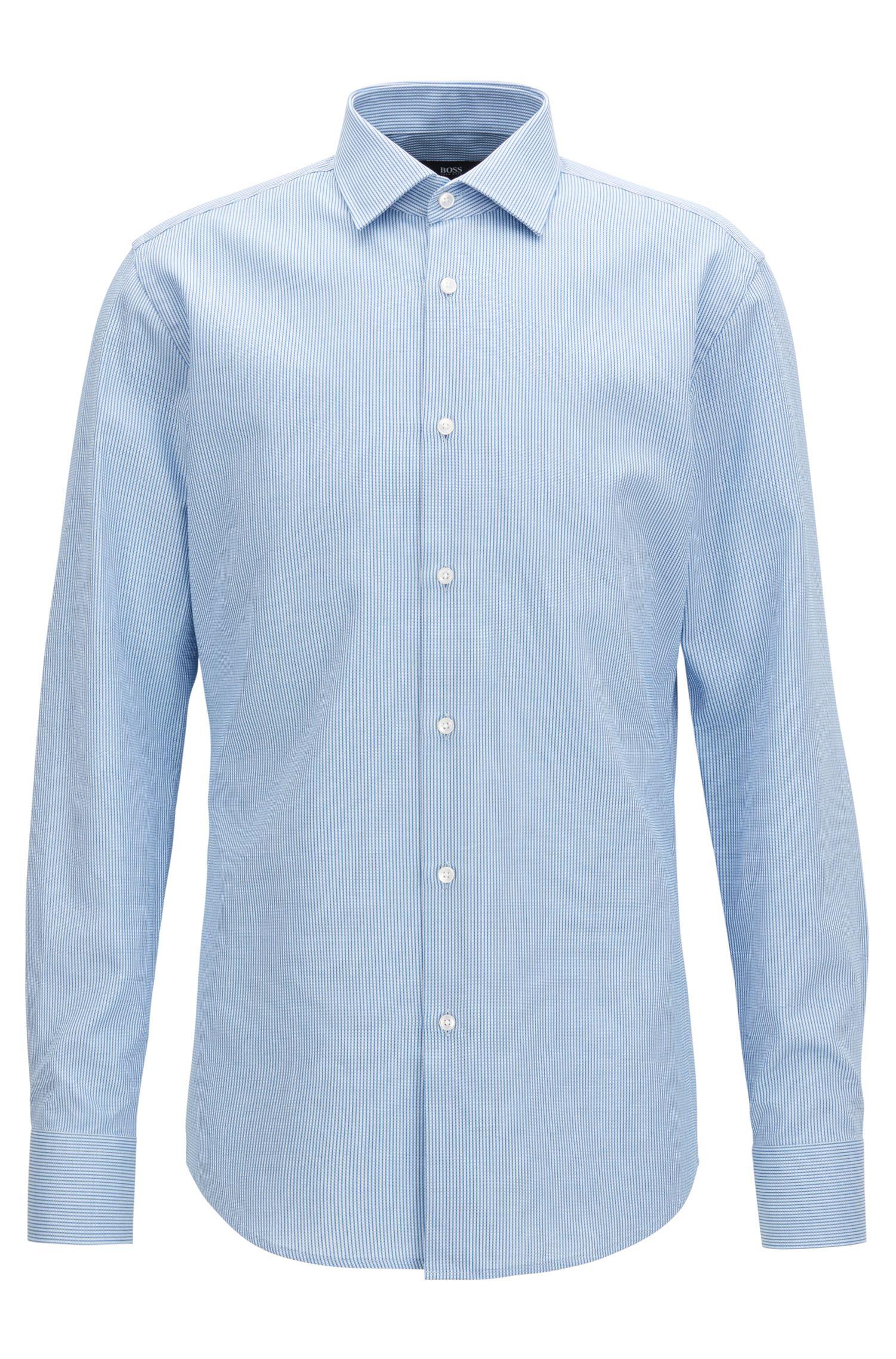 Striped Cotton Dress Shirt, Slim Fit | Jenno
