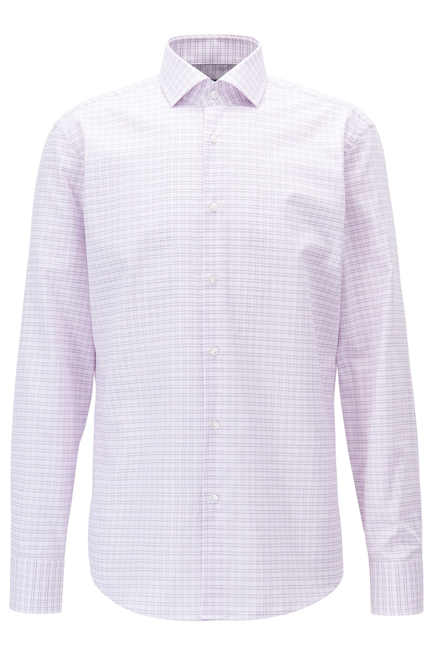 Check Cotton Dress Shirt, Regular Fit | Gordon