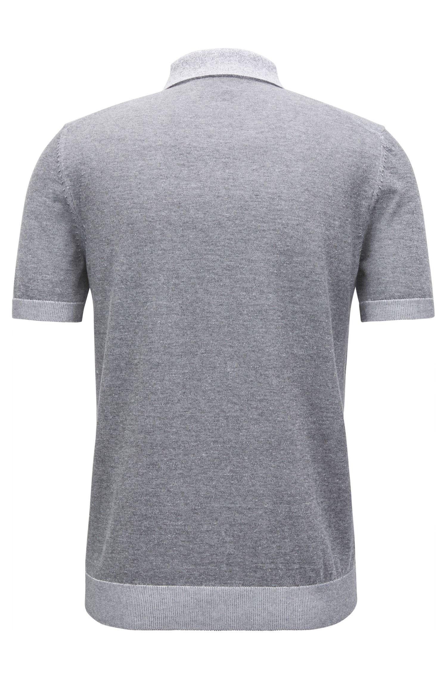 Colorblocked Cotton Polo Shirt, Slim Fit | Delio