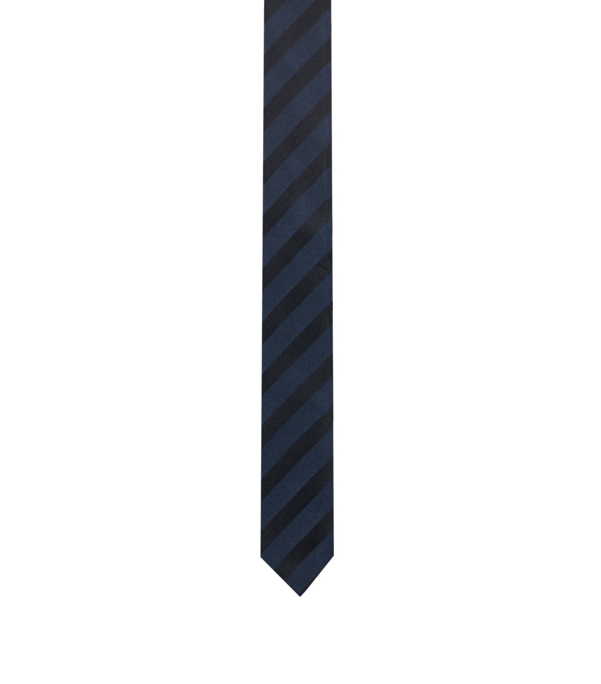 Striped Skinny Tie, Black