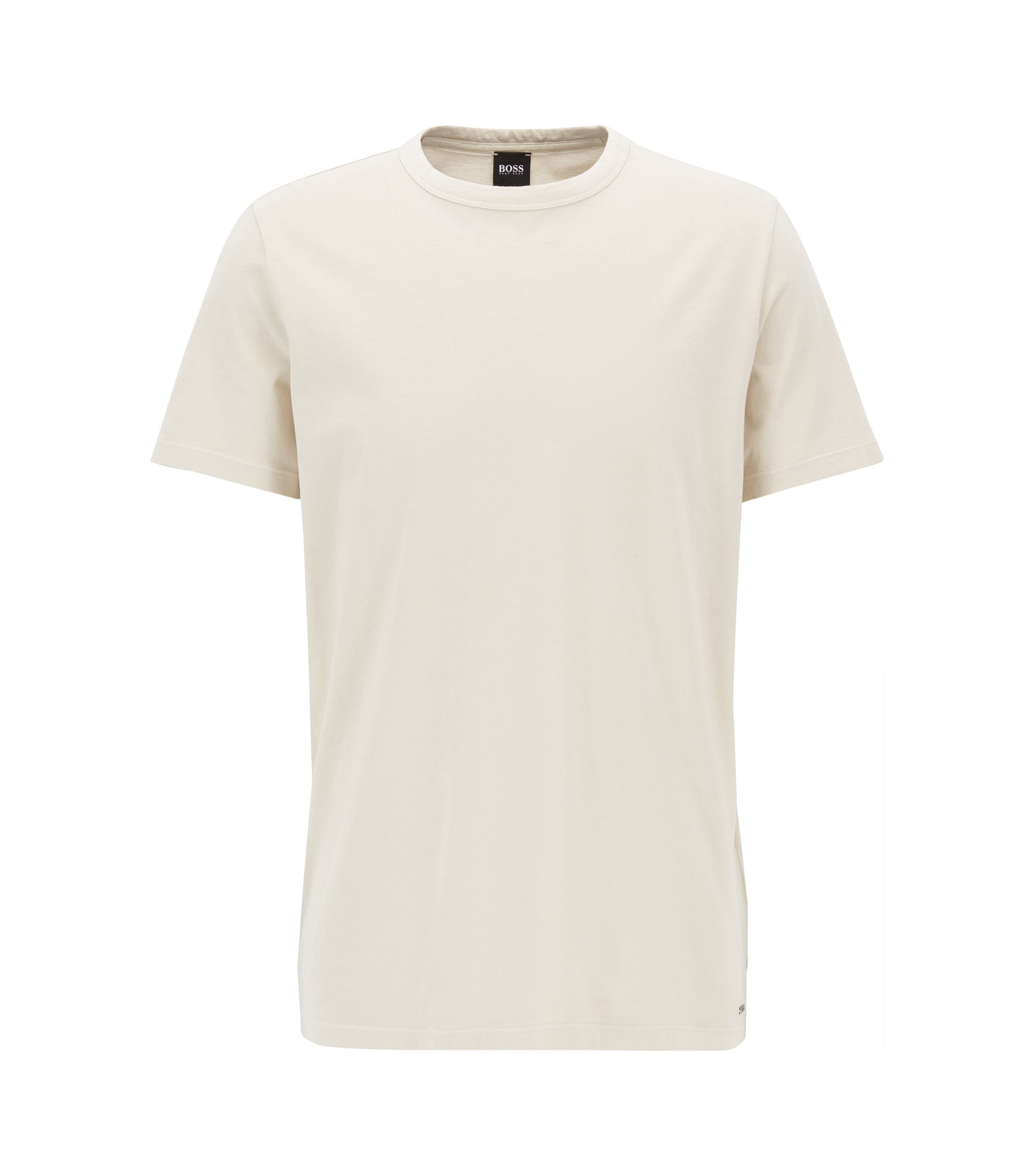 Garment Washed Cotton T-Shirt | Tessler, Natural