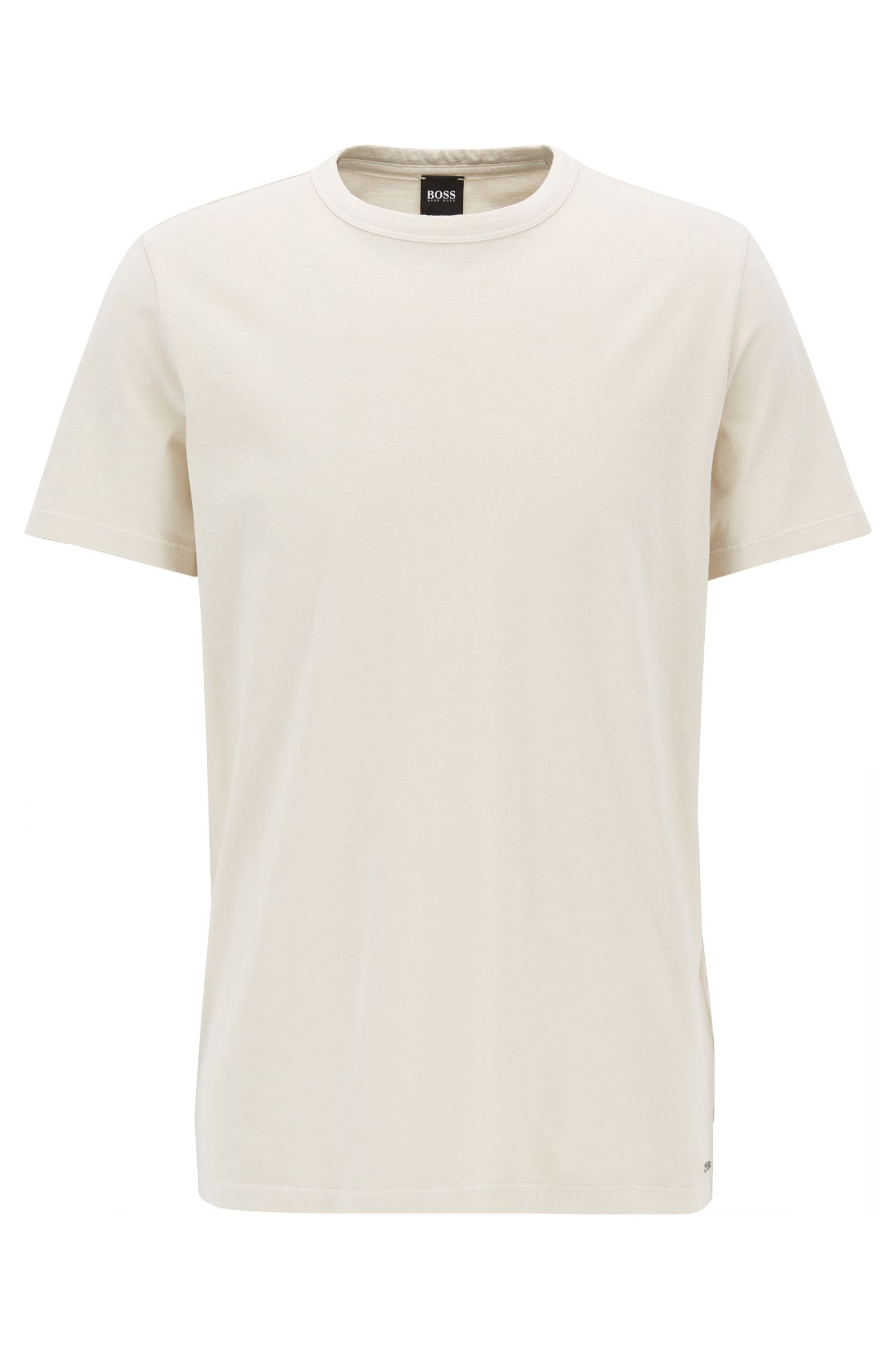 Garment Washed Cotton T-Shirt | Tessler