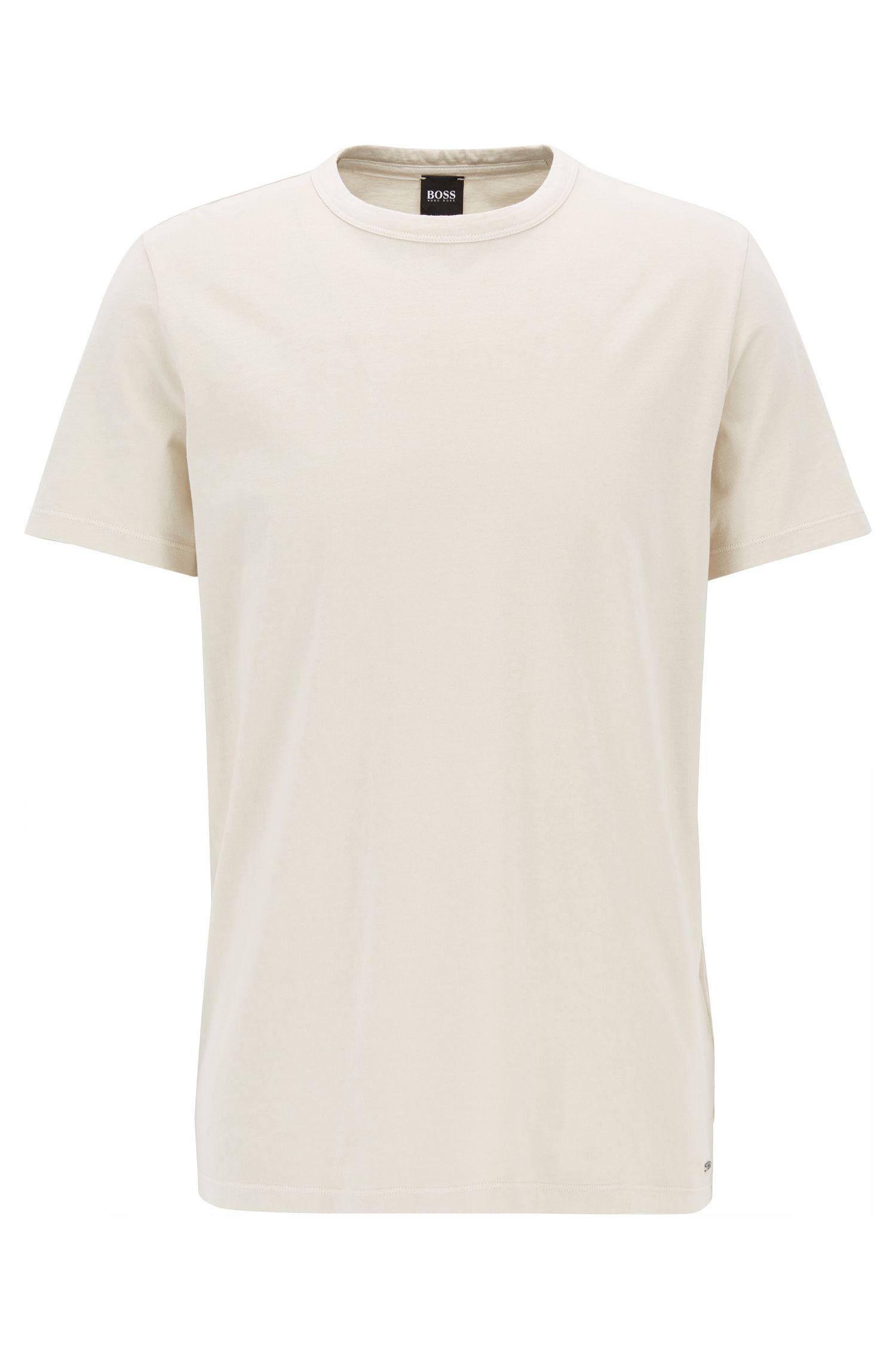 Garment Washed Cotton T-Shirt | Tessler