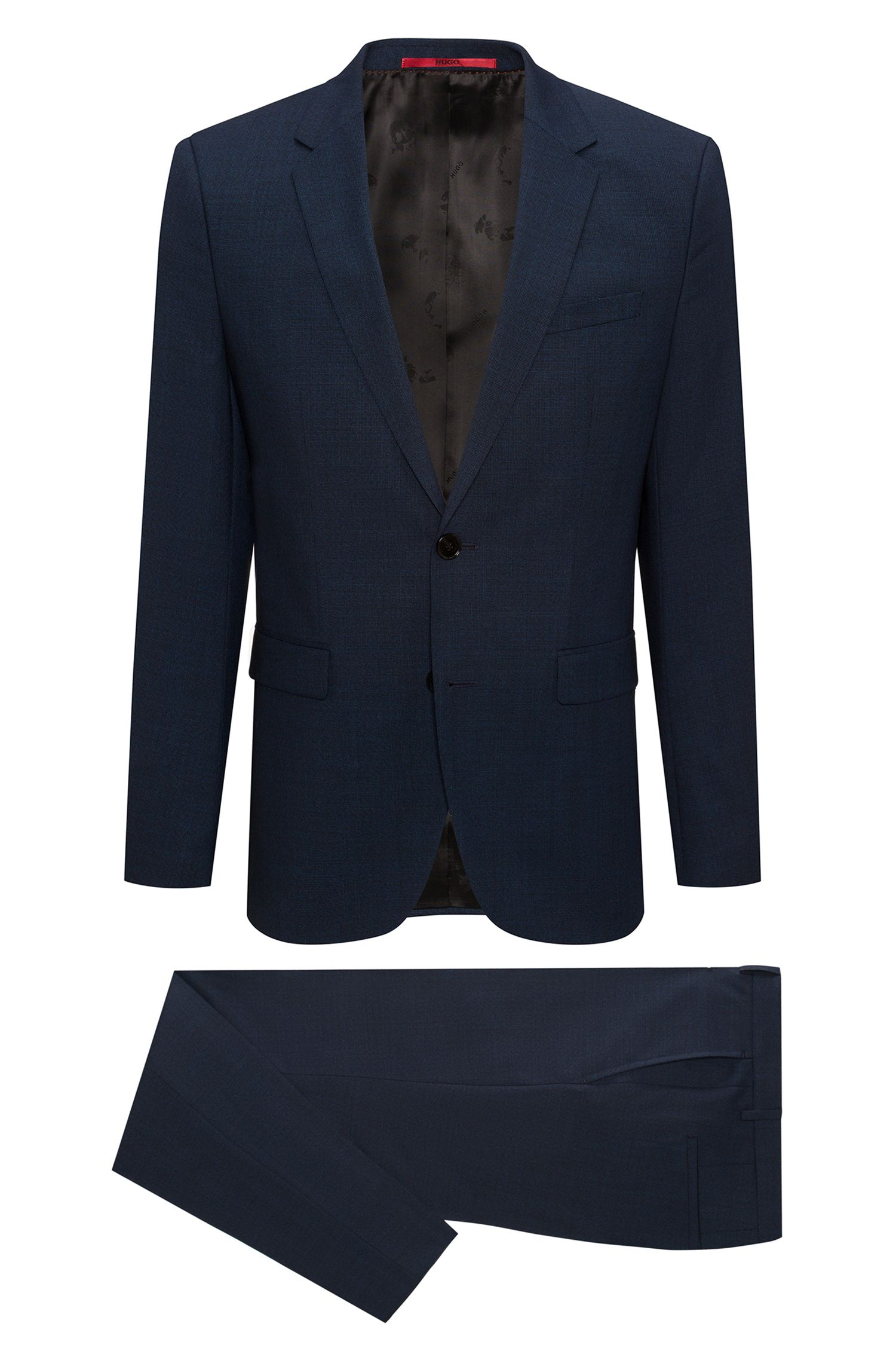 Italian Virgin Wool Suit, Extra Slim Fit | Arti/Hesten, Dark Blue