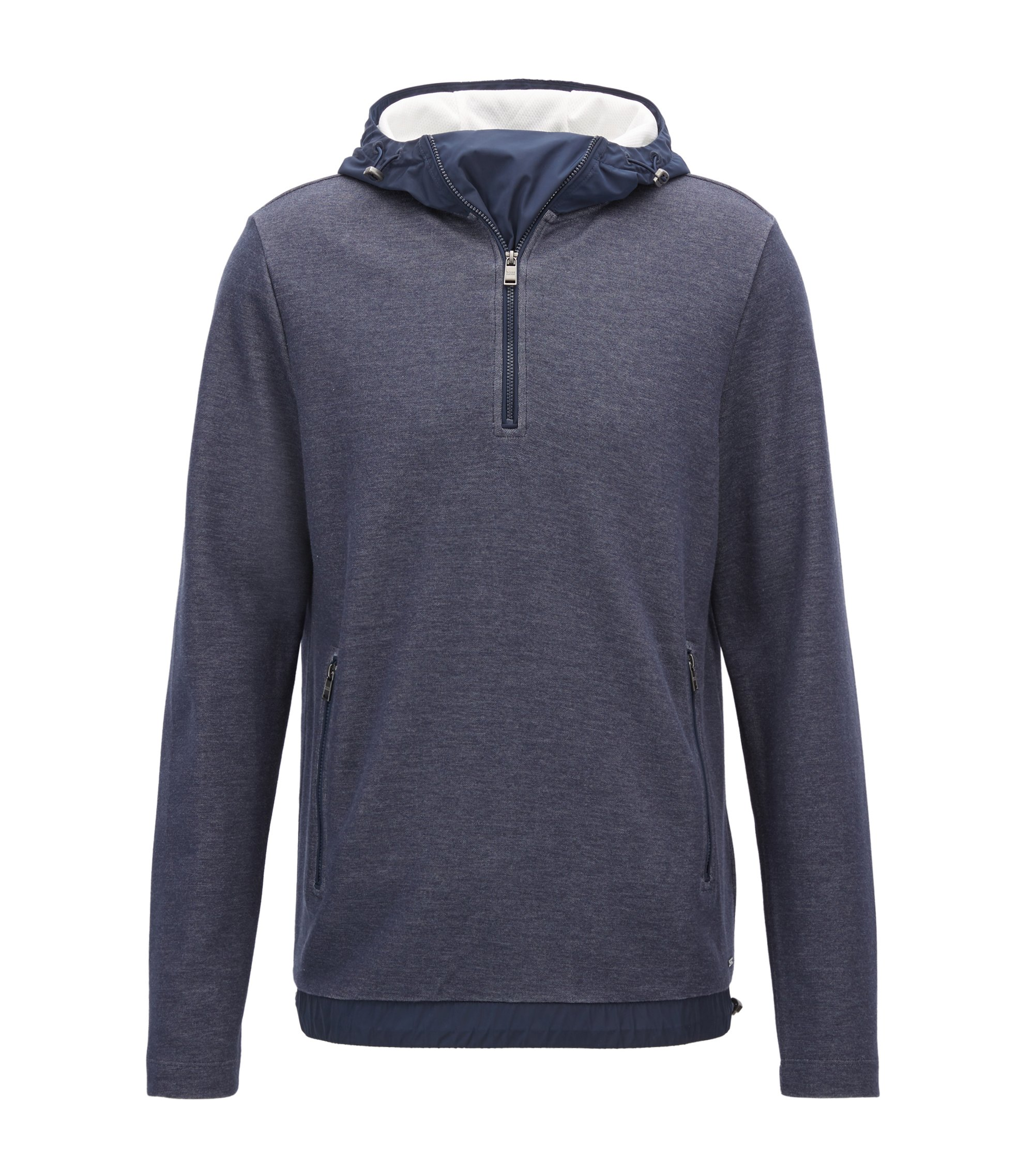 Cotton Blend Sweatshirt | Seeger, Dark Blue