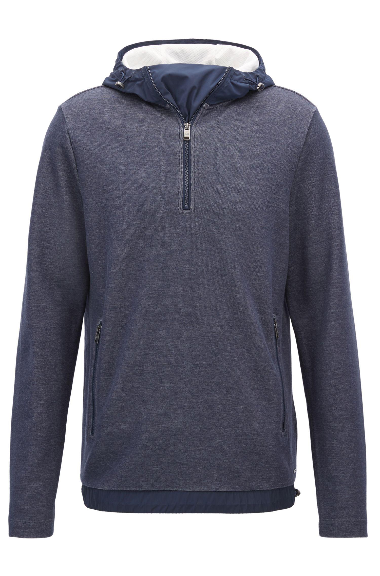 Cotton Blend Sweatshirt | Seeger, Dark Blue