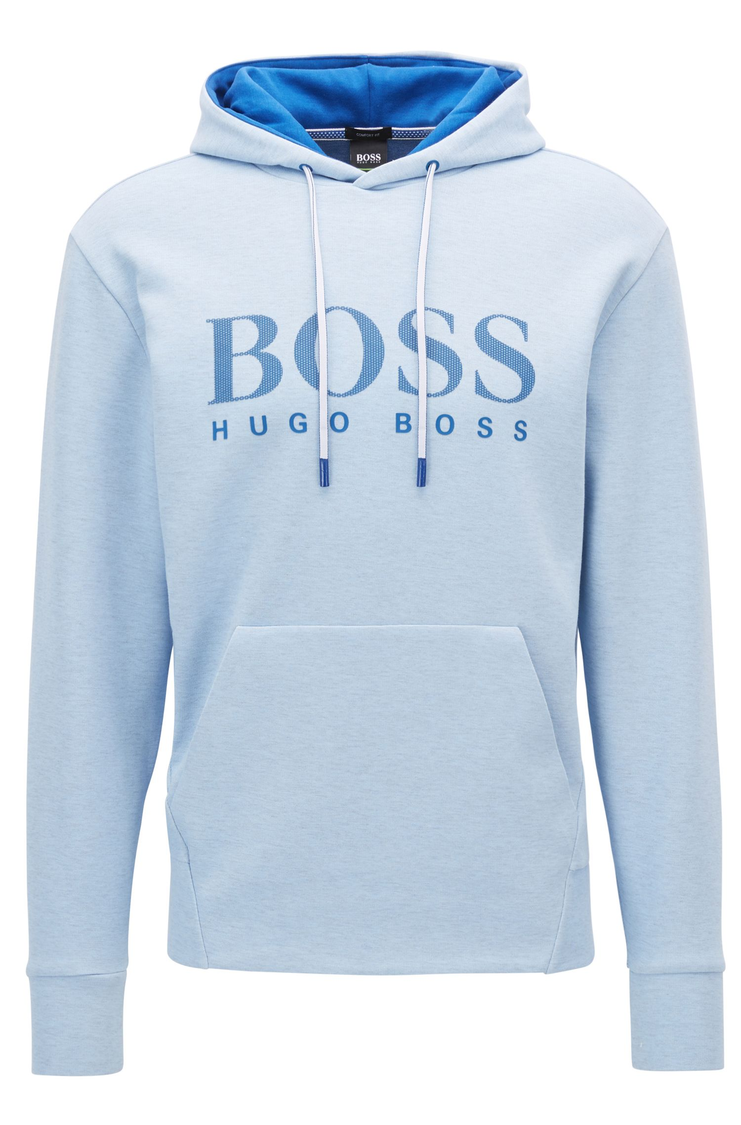 Cotton Blend Hoodie | Soody , Blue