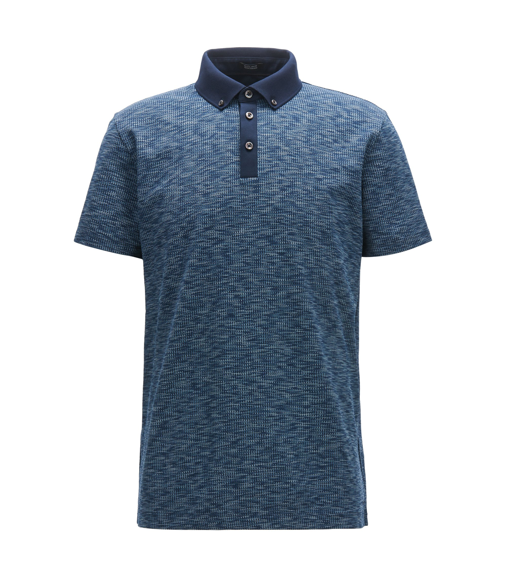 Mercerized Cotton Polo Shirt, Regular Fit | Pack, Dark Blue