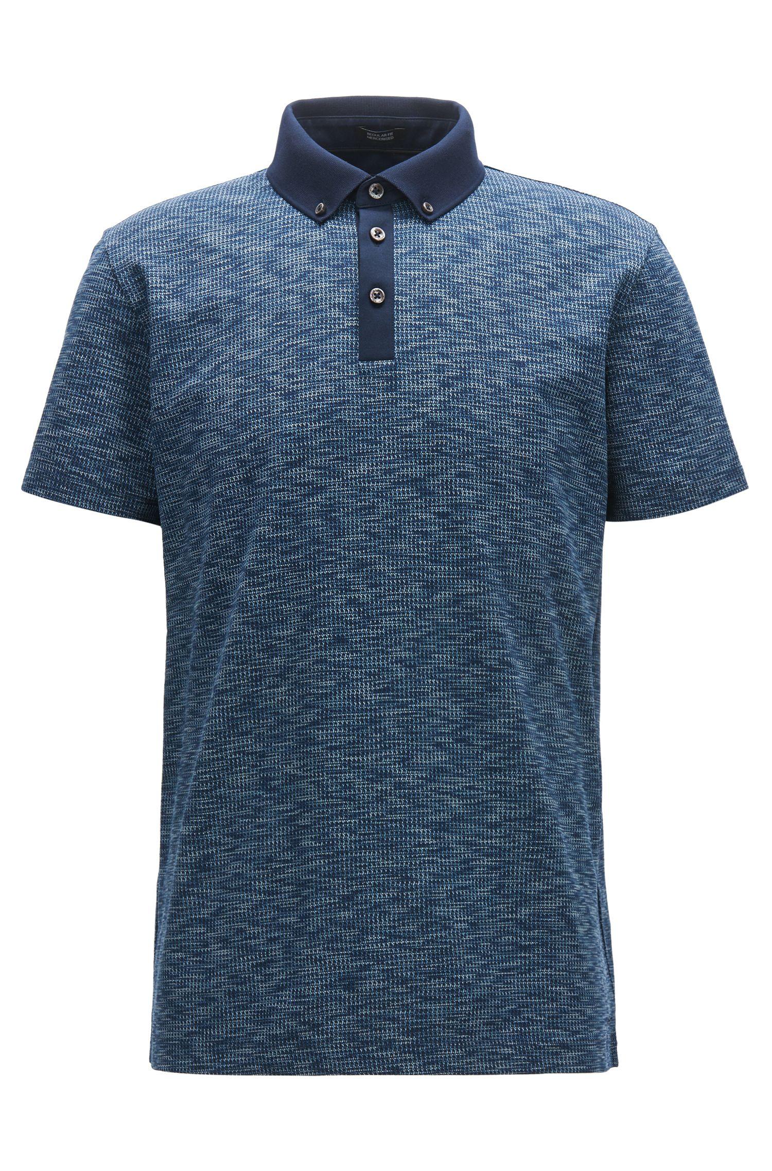 Mercerized Cotton Polo Shirt, Regular Fit | Pack, Dark Blue