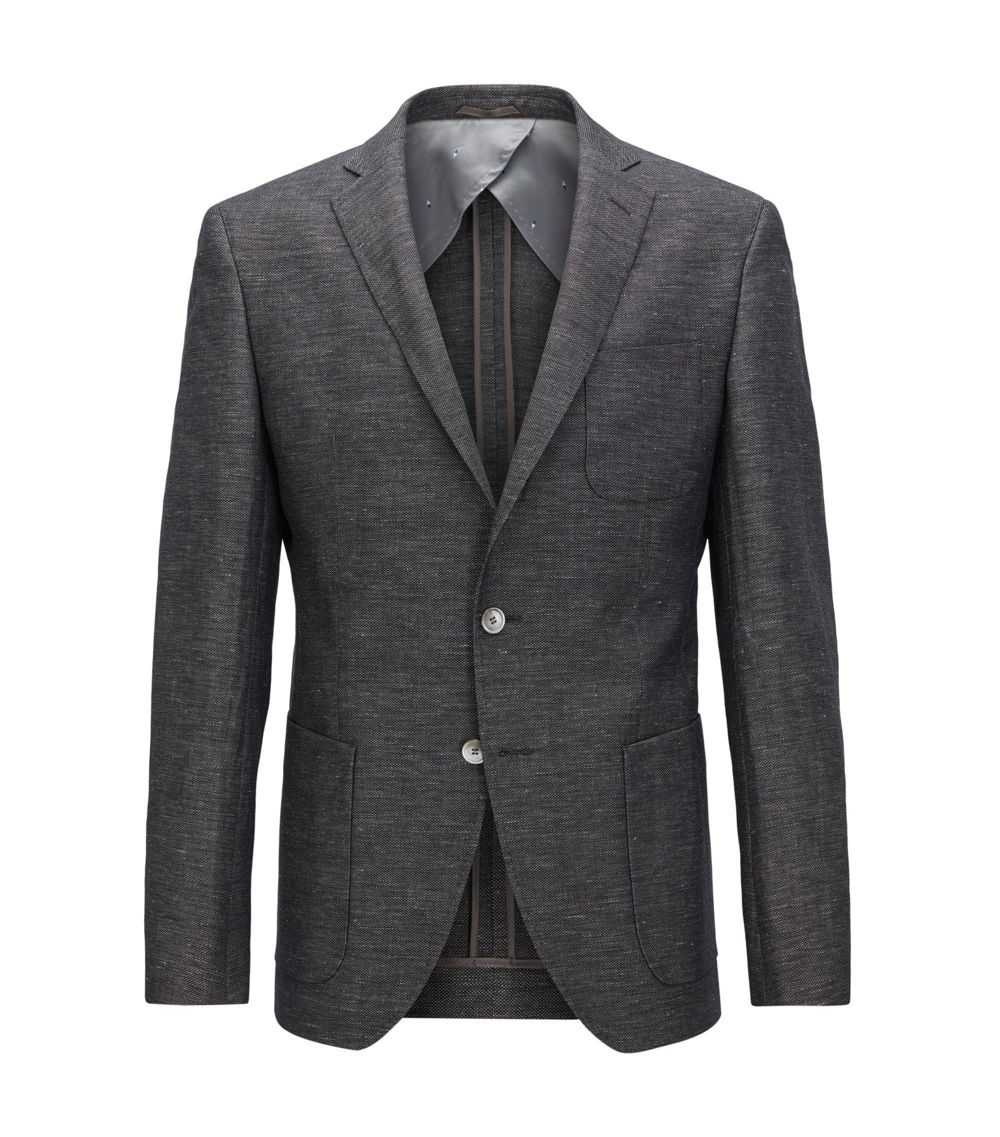Cotton Linen Sport Coat, Extra Slim Fit | Raye, Open Grey