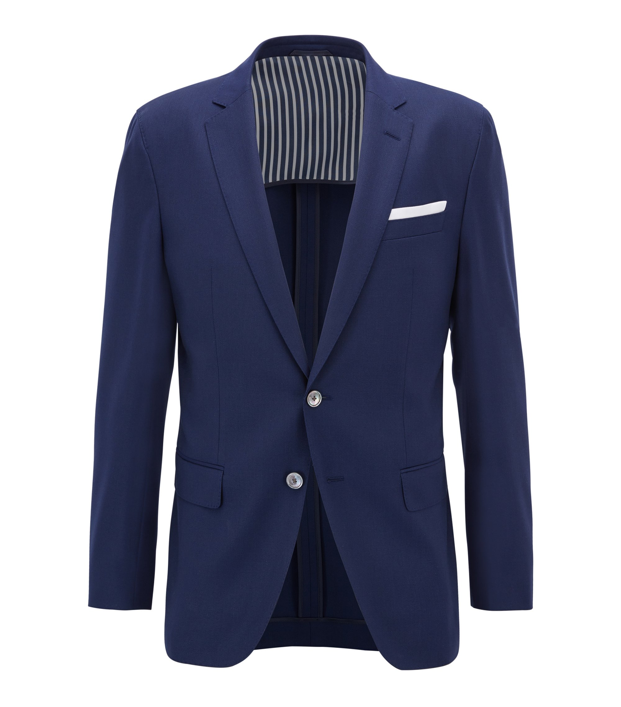 Virgin Wool Sport Coat, Slim Fit | Hartlay, Open Blue