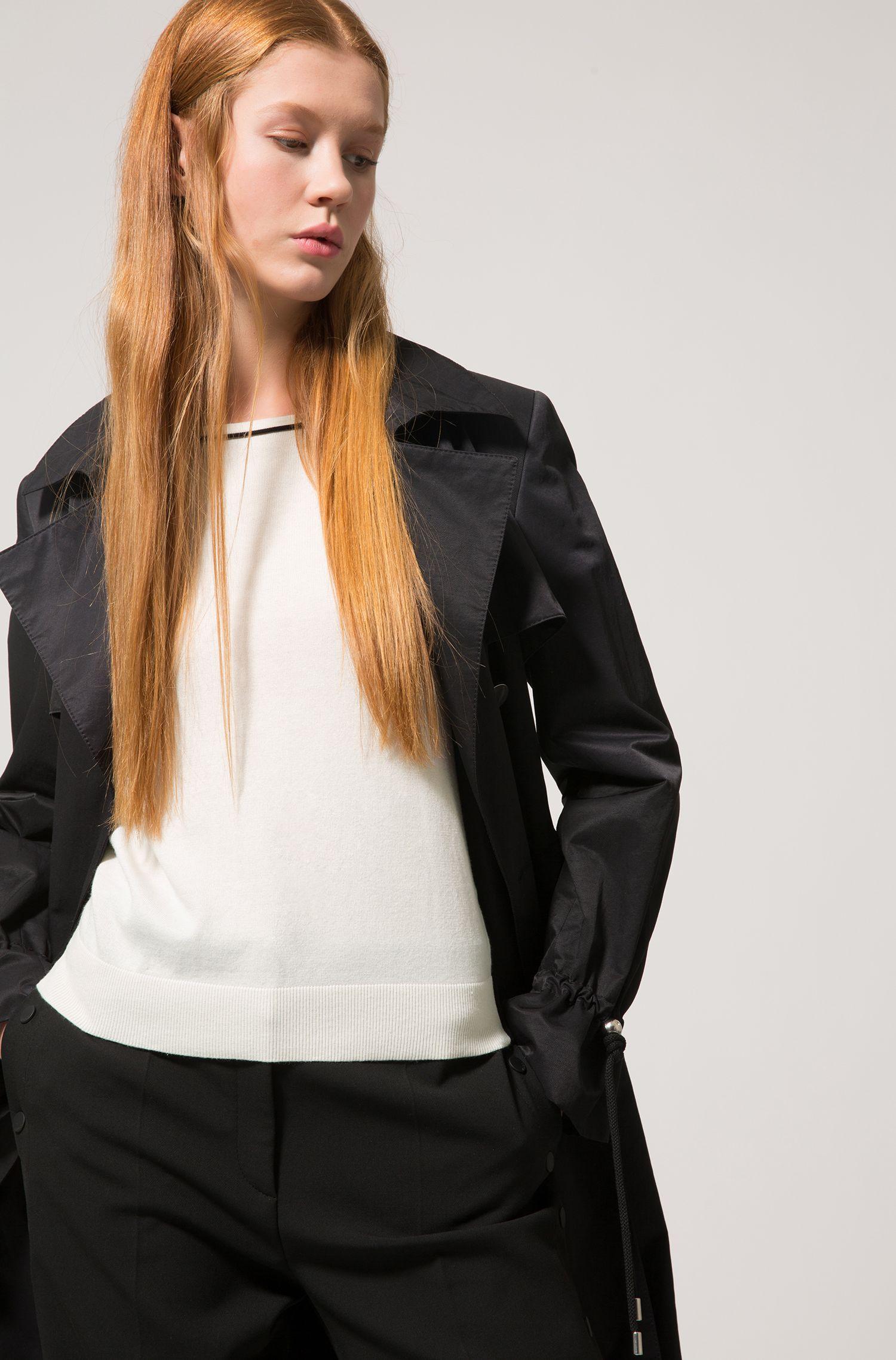 Cotton Silk Oversized Sweater | Sastia , Natural