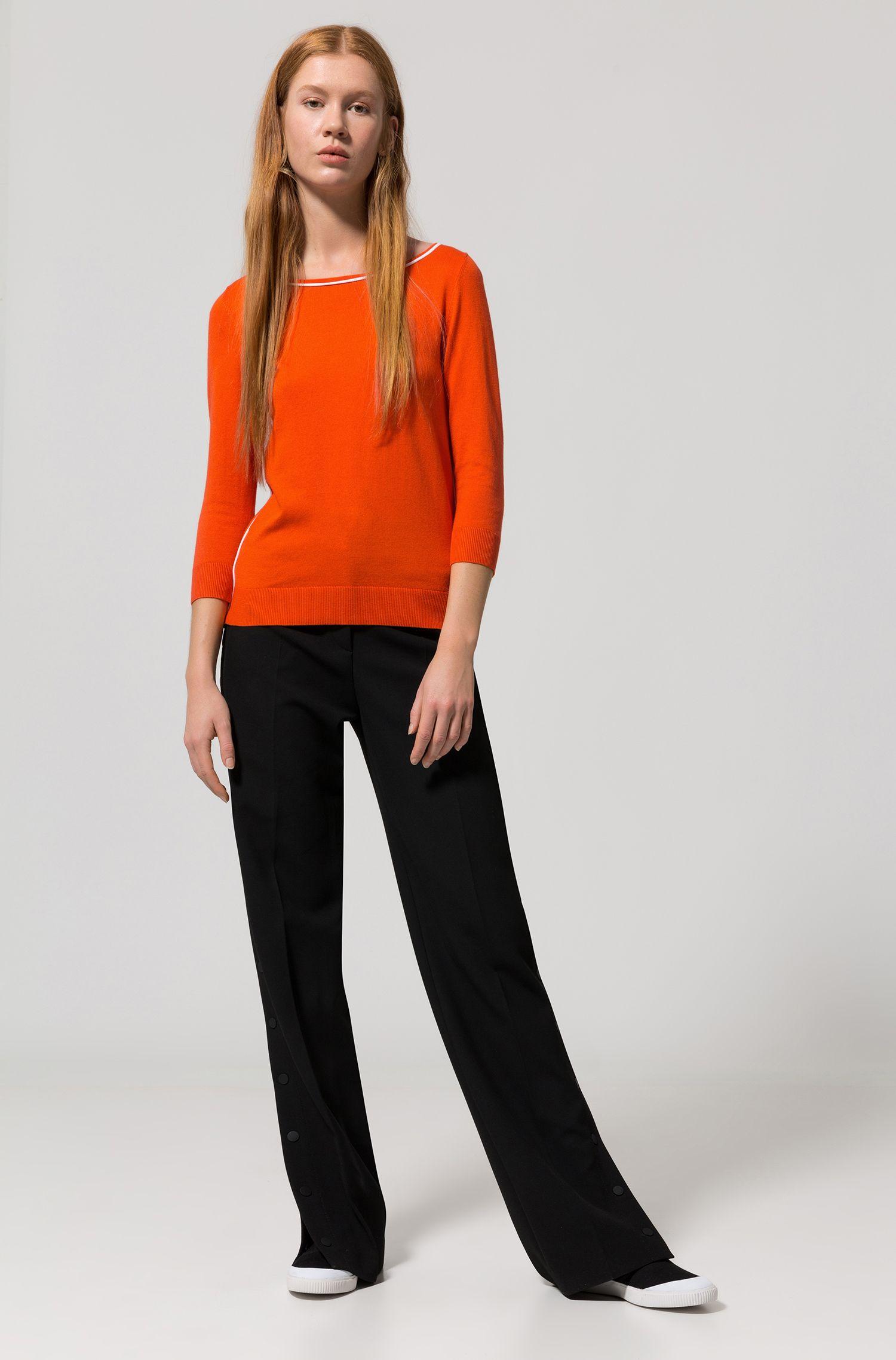 Cotton Silk Oversized Sweater | Sastia , Orange
