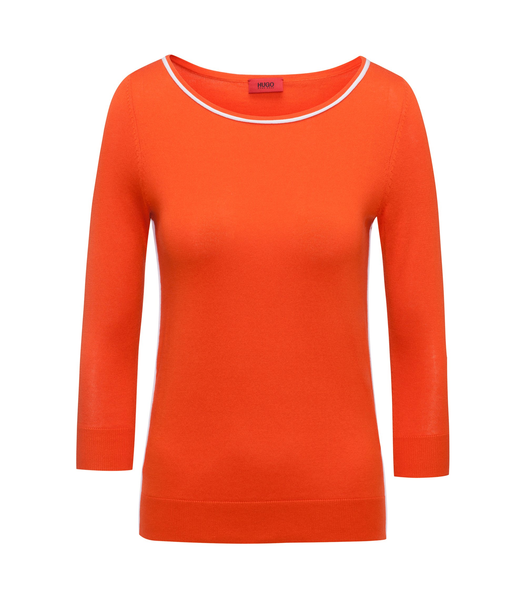 Cotton Silk Oversized Sweater | Sastia , Orange