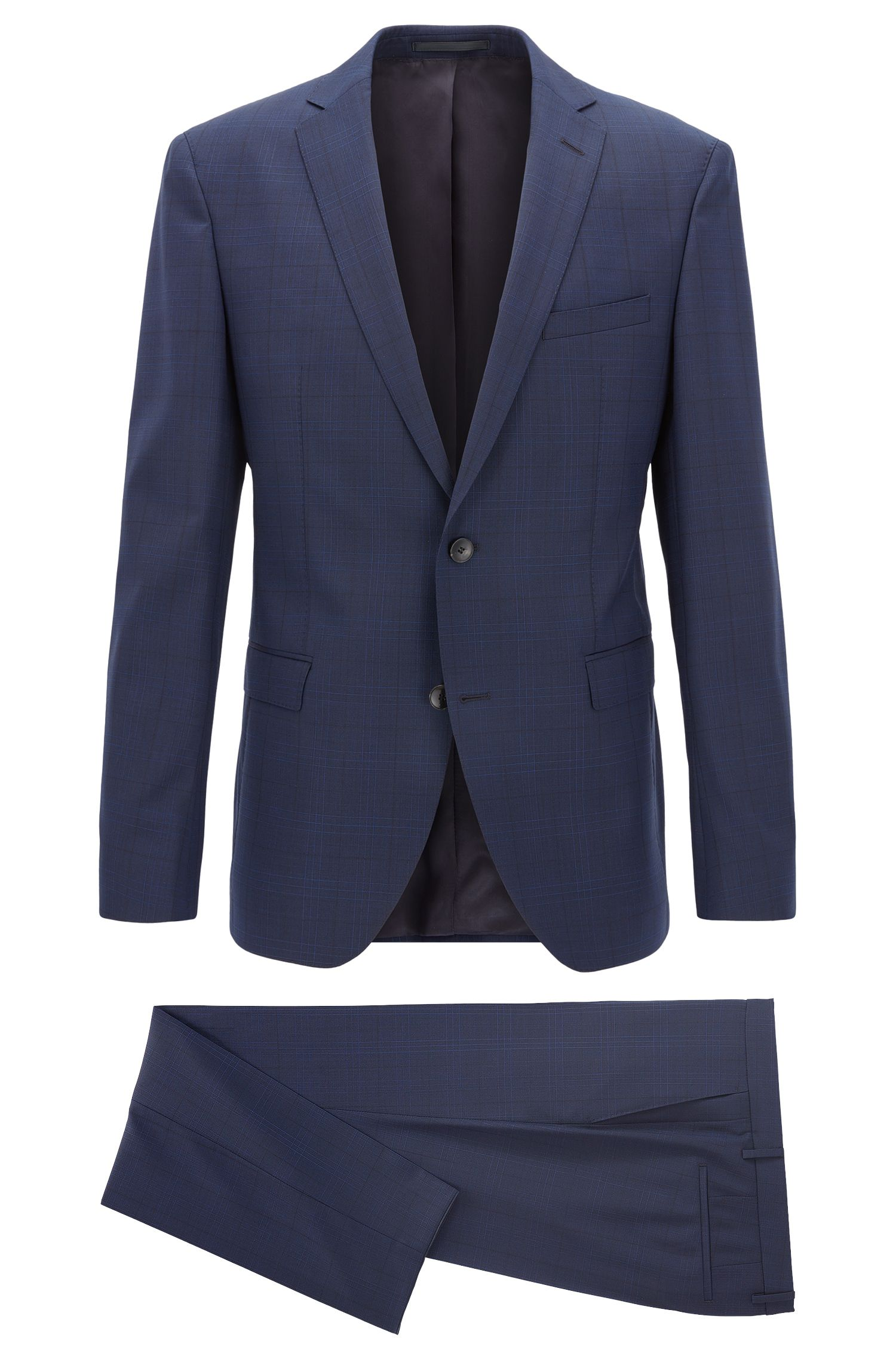 Virgin Wool Suit, Extra Slim Fit | Reyno/Wave