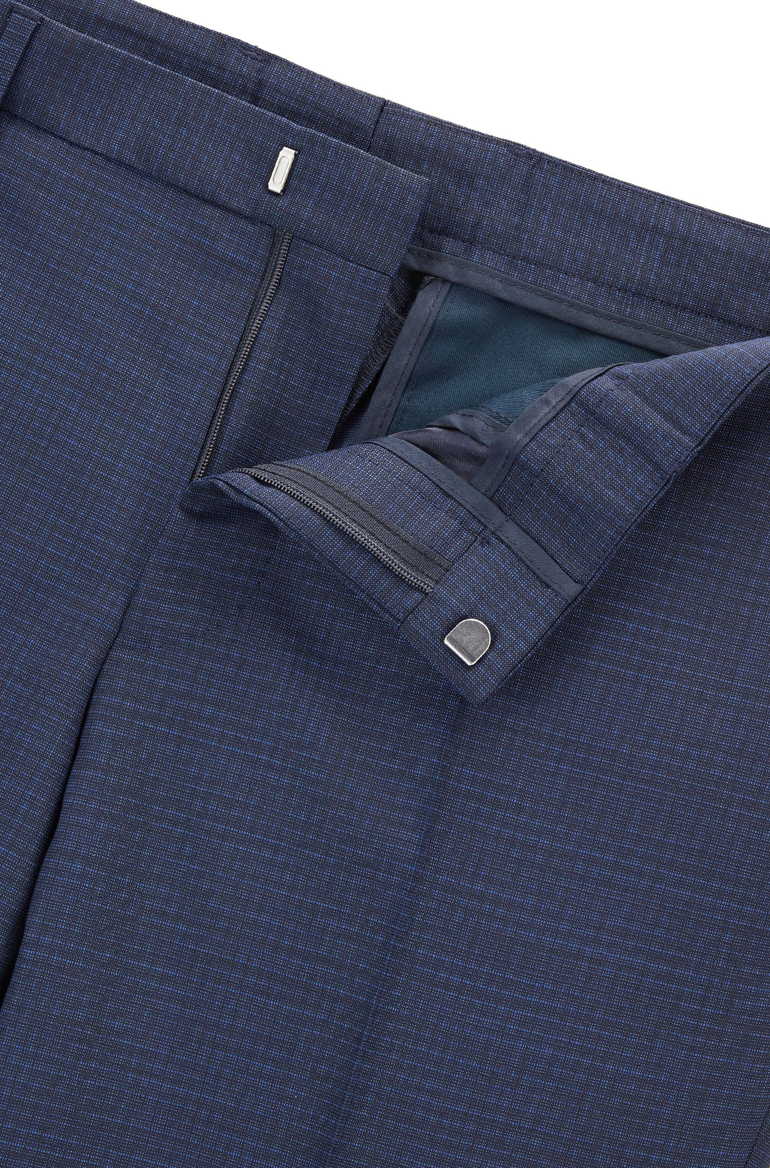 Checked Virgin Wool Suit, Slim Fit | Novid/Bristow