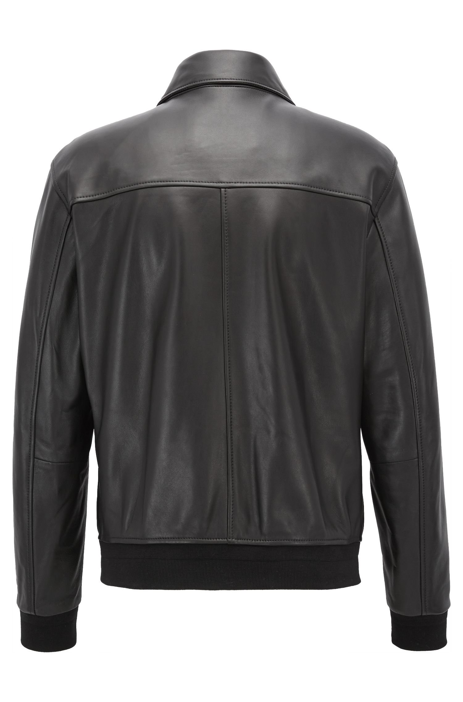Lambskin Aviator Jacket | Namiron BE, Black