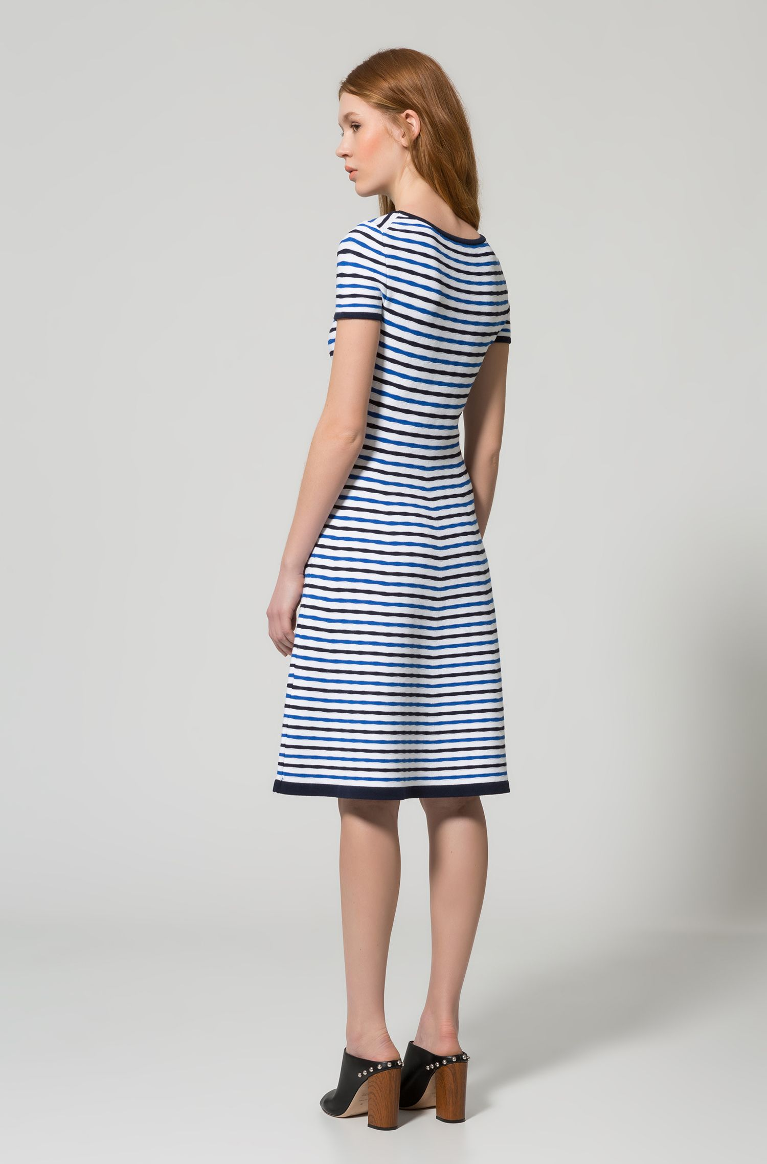 Striped A-Line Dress | Sawnia, Patterned