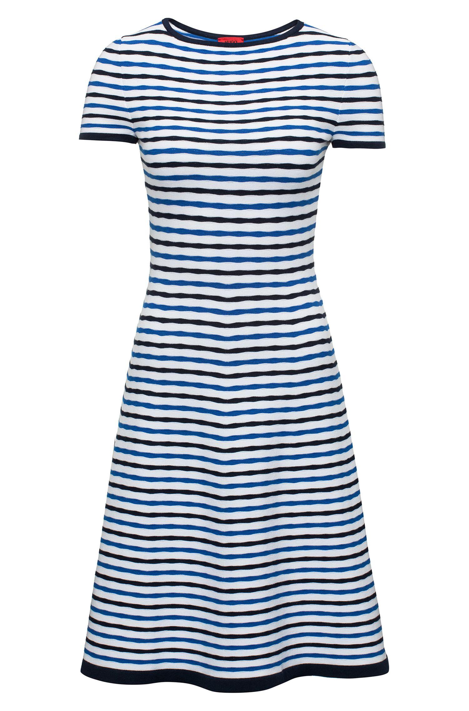 Striped A-Line Dress | Sawnia