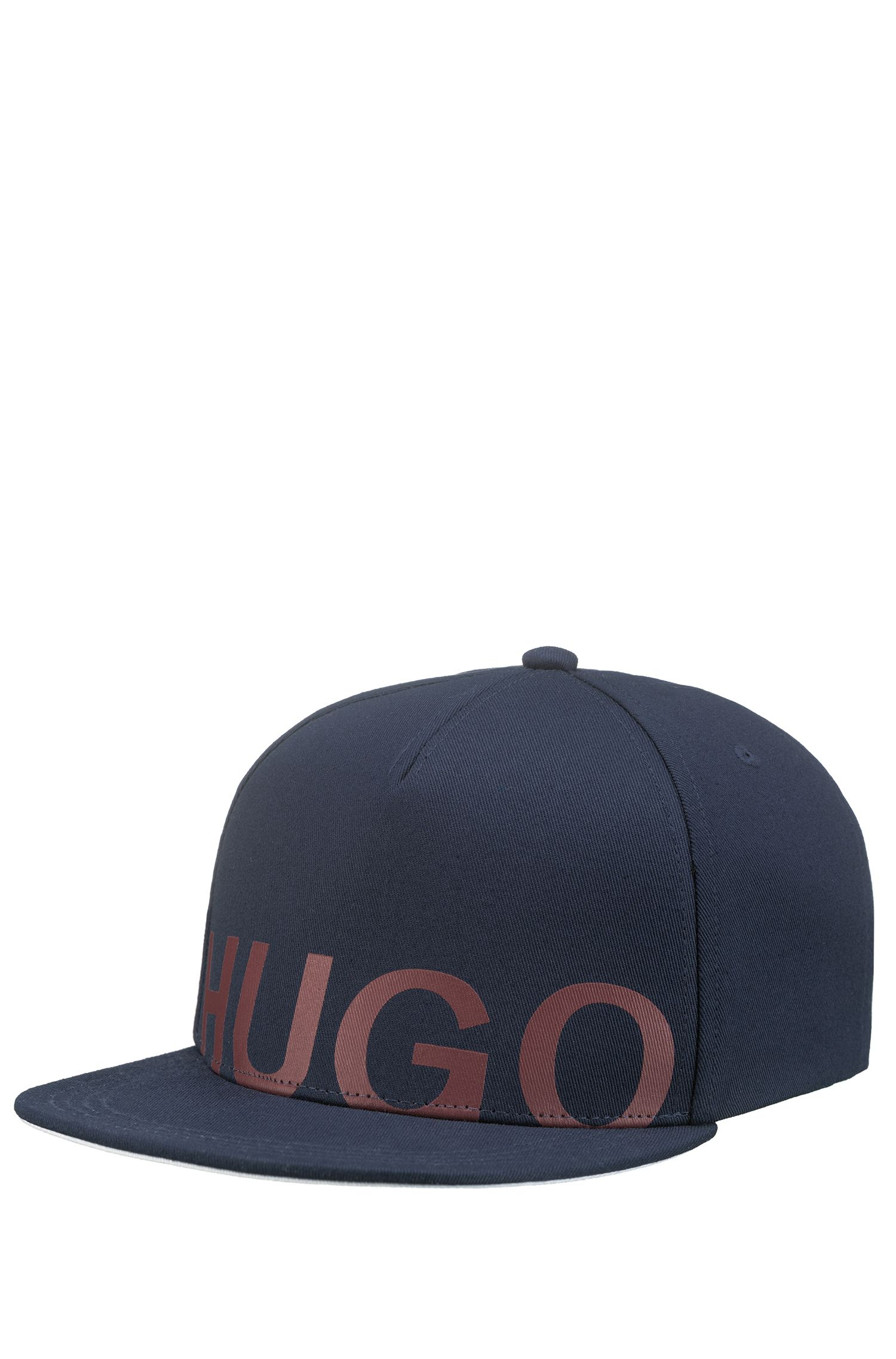 Logo baseball cap in cotton gabardine, Dark Blue