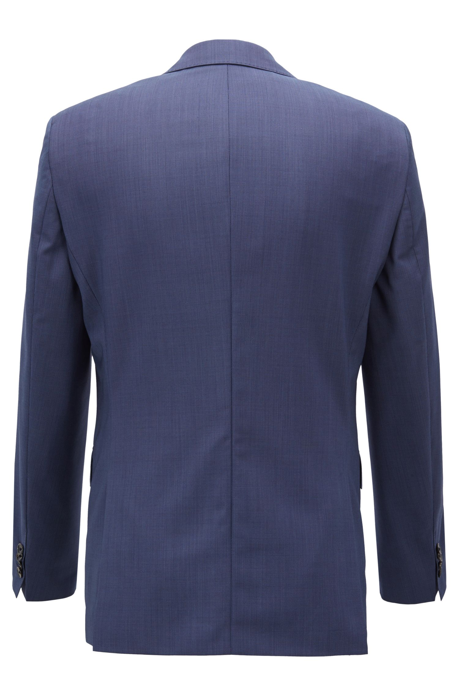 Regular-fit suit in structured Marzotto wool , Dark Blue