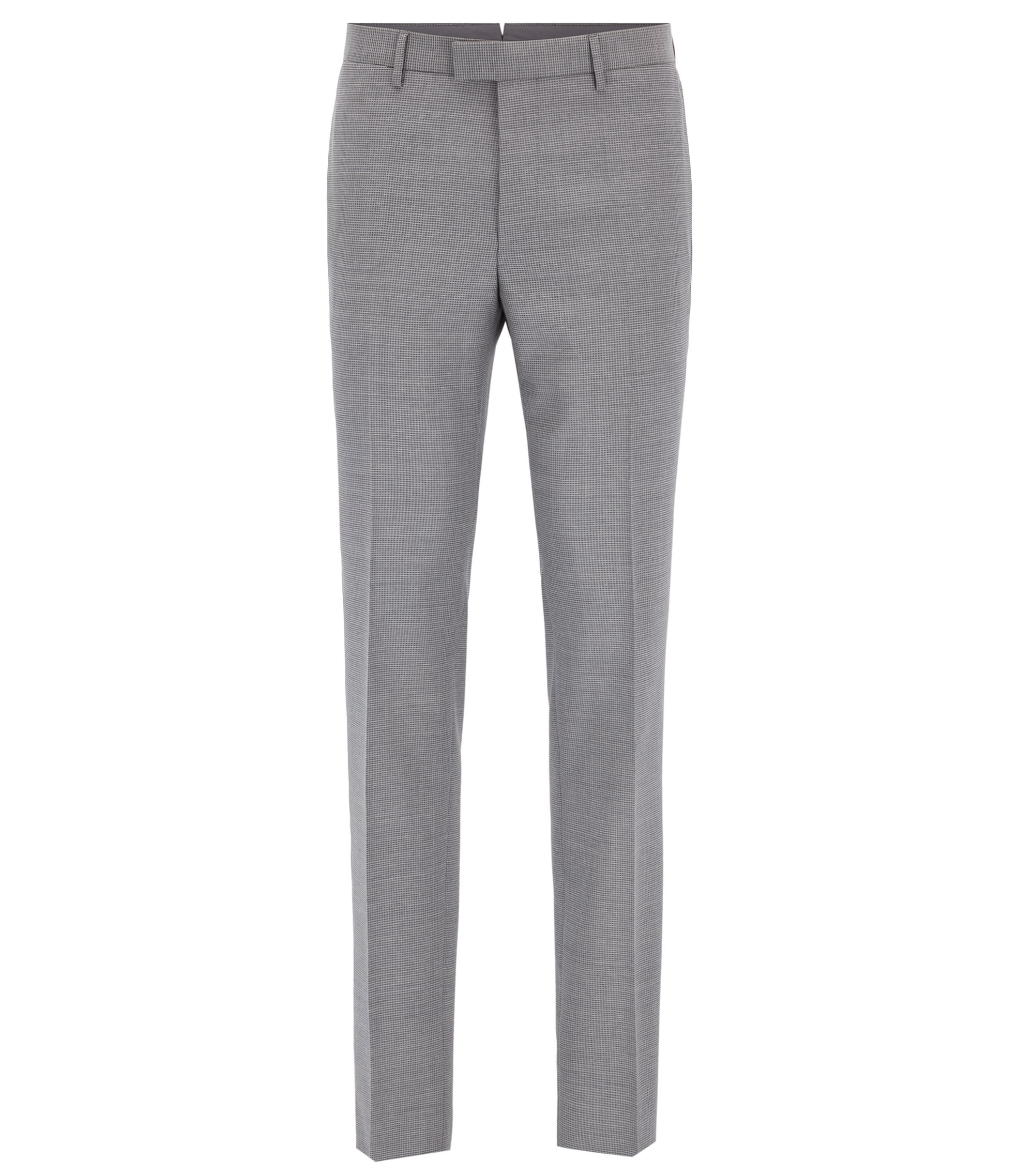 Virgin Wool Dress Pants, Slim Fit | T-Gary, Grey