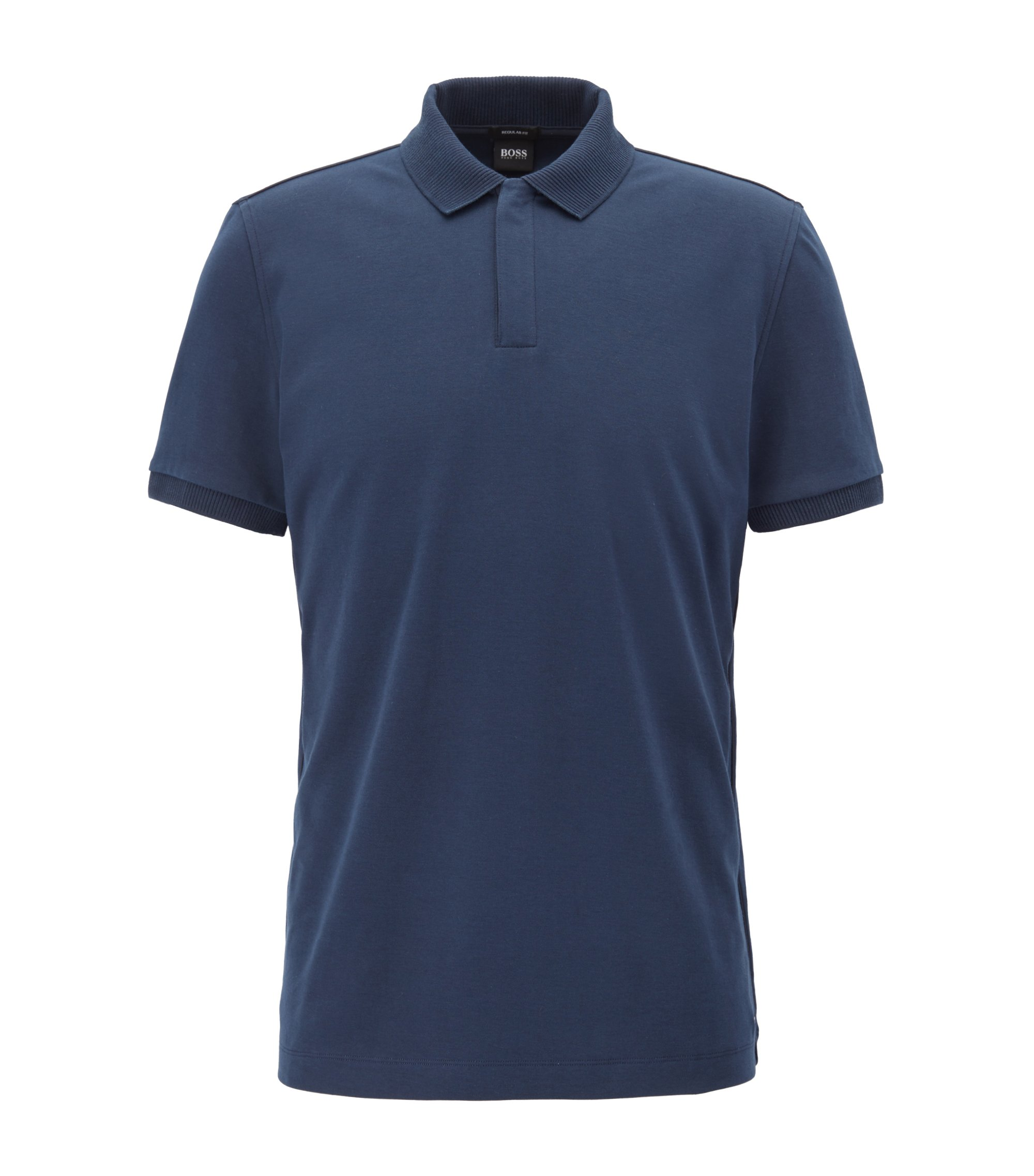 Cotton Polo Shirt, Regular Fit | Pohl, Dark Blue