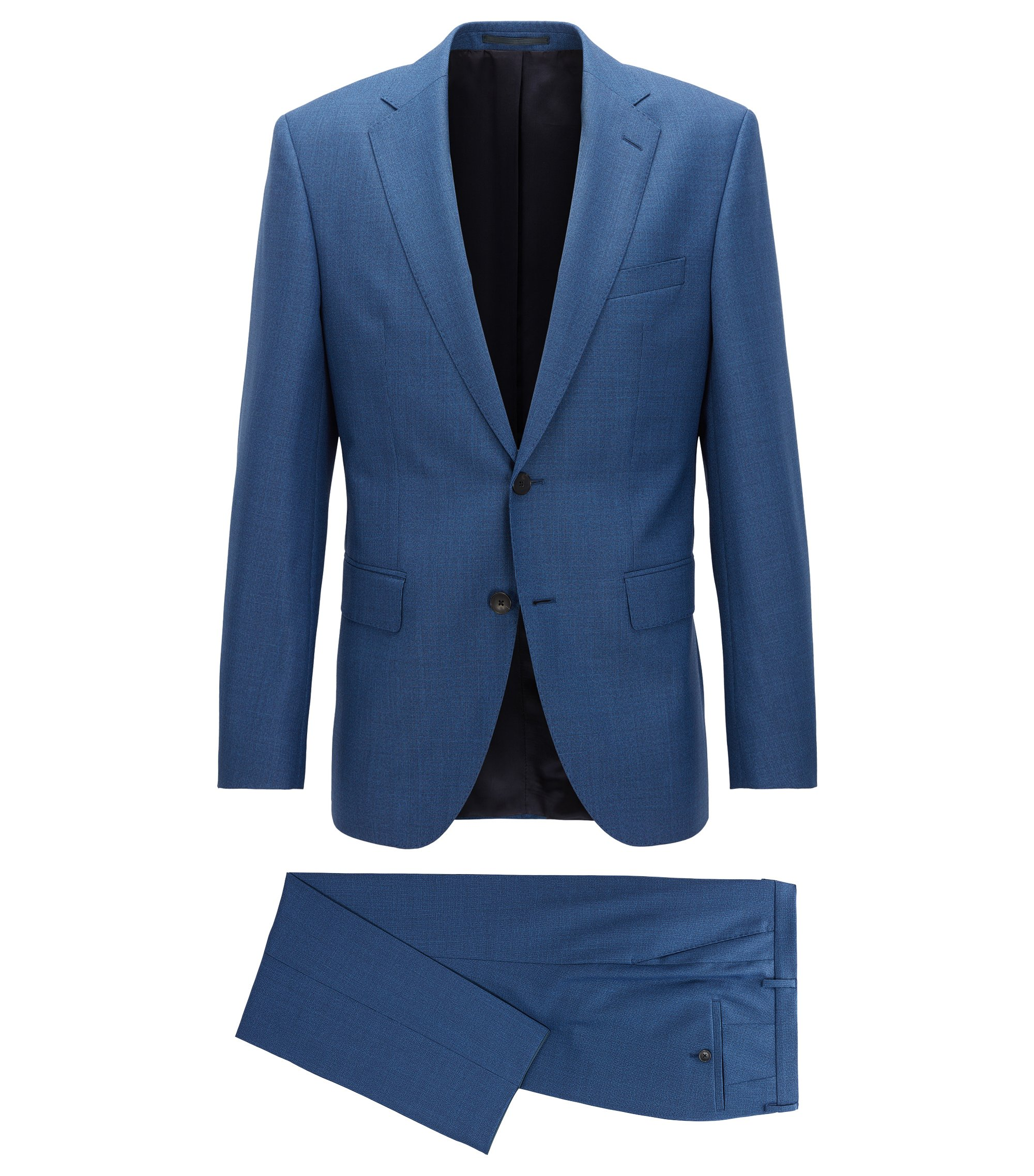 Virgin Wool Suit, Regular Fit | Johnstons/Lenon, Open Blue