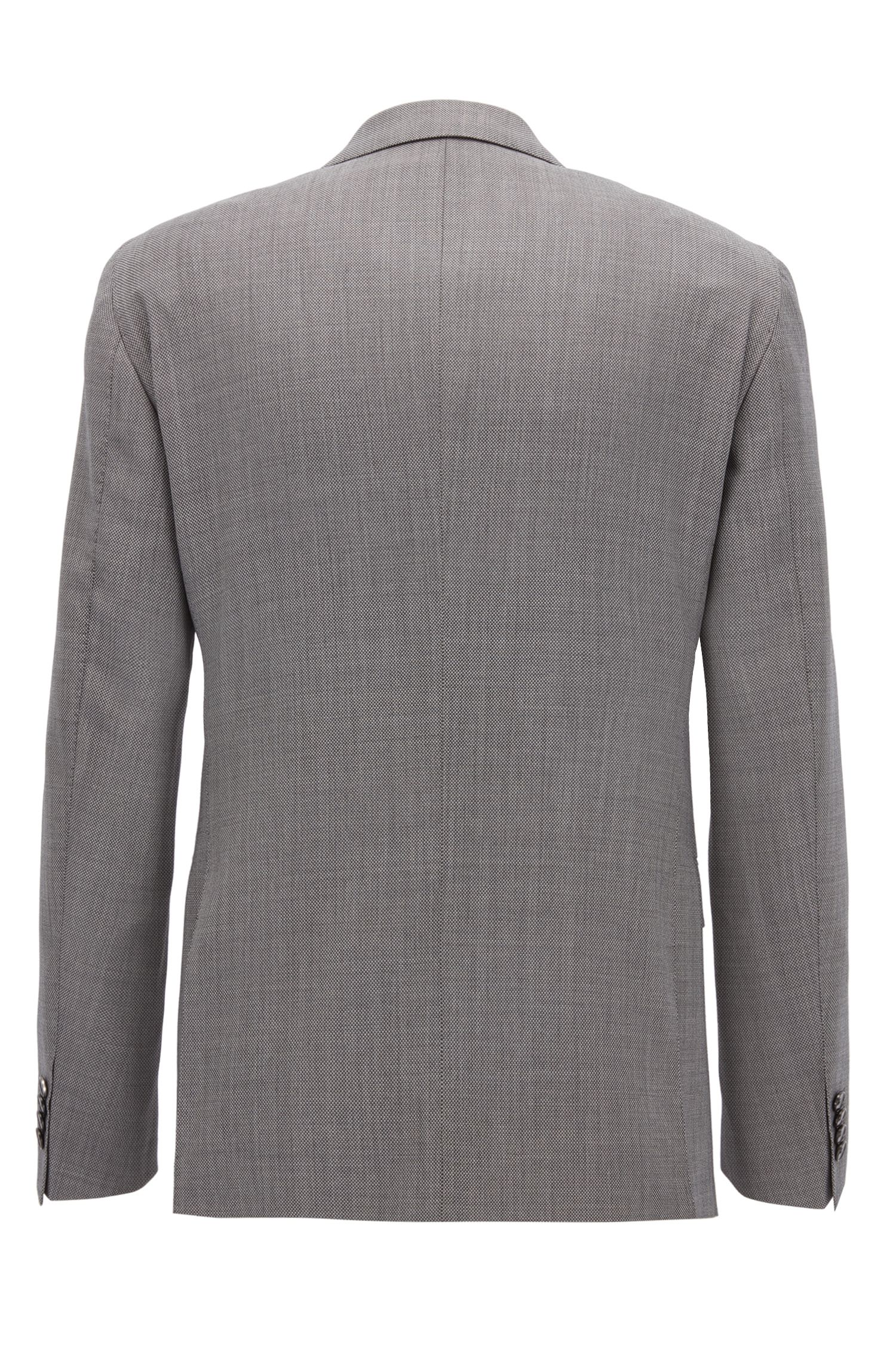 Sharkskin Virgin Wool Suit, Extra Slim Fit | Reyno/Wave