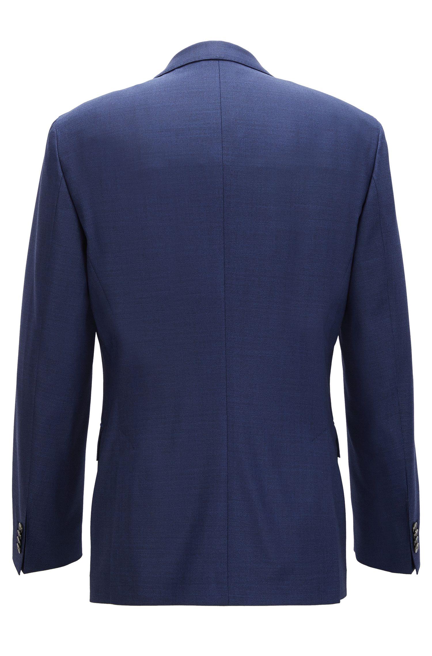 Virgin Wool Silk Suit, Slim Fit | Helford/Gander, Blue