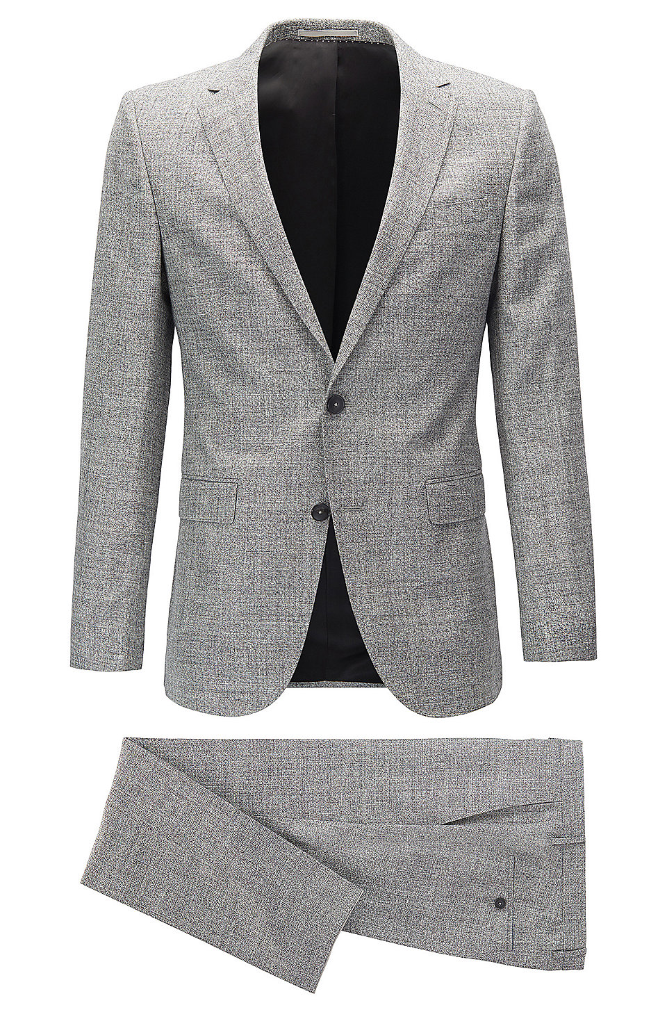 Grey Suit And Black Shoes