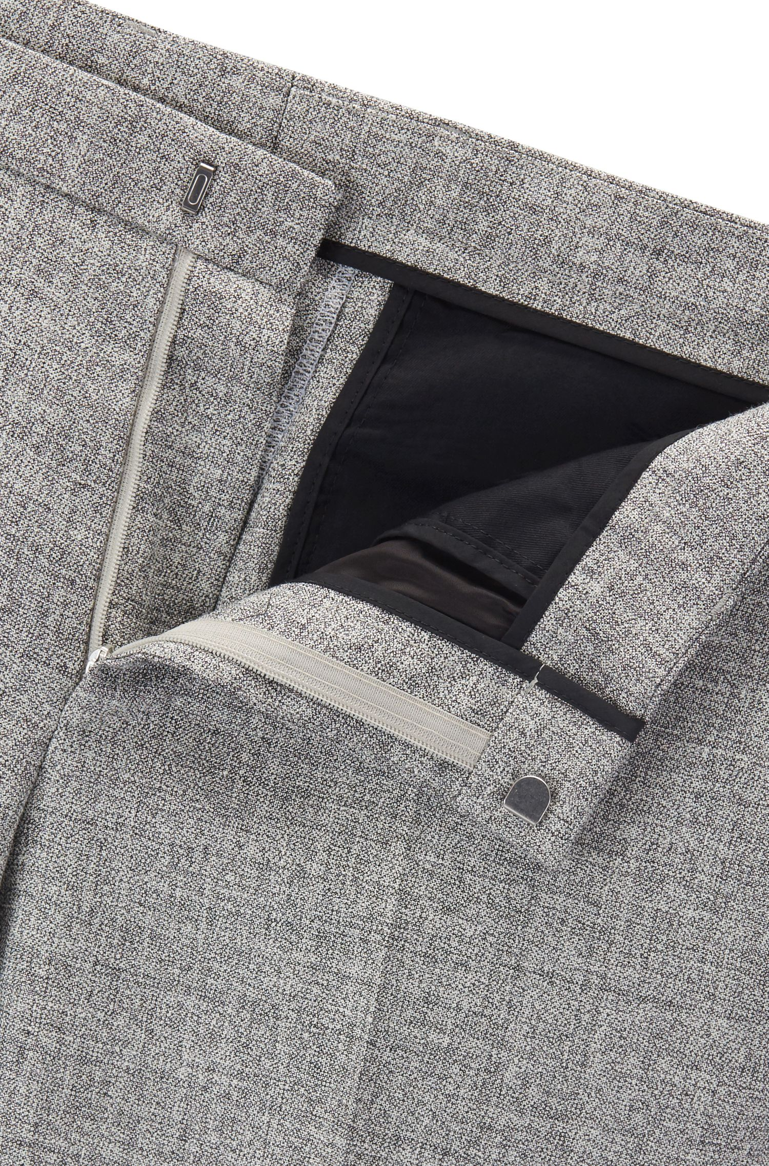 Wool Silk Linen Suit, Slim Fit | Novan/Ben