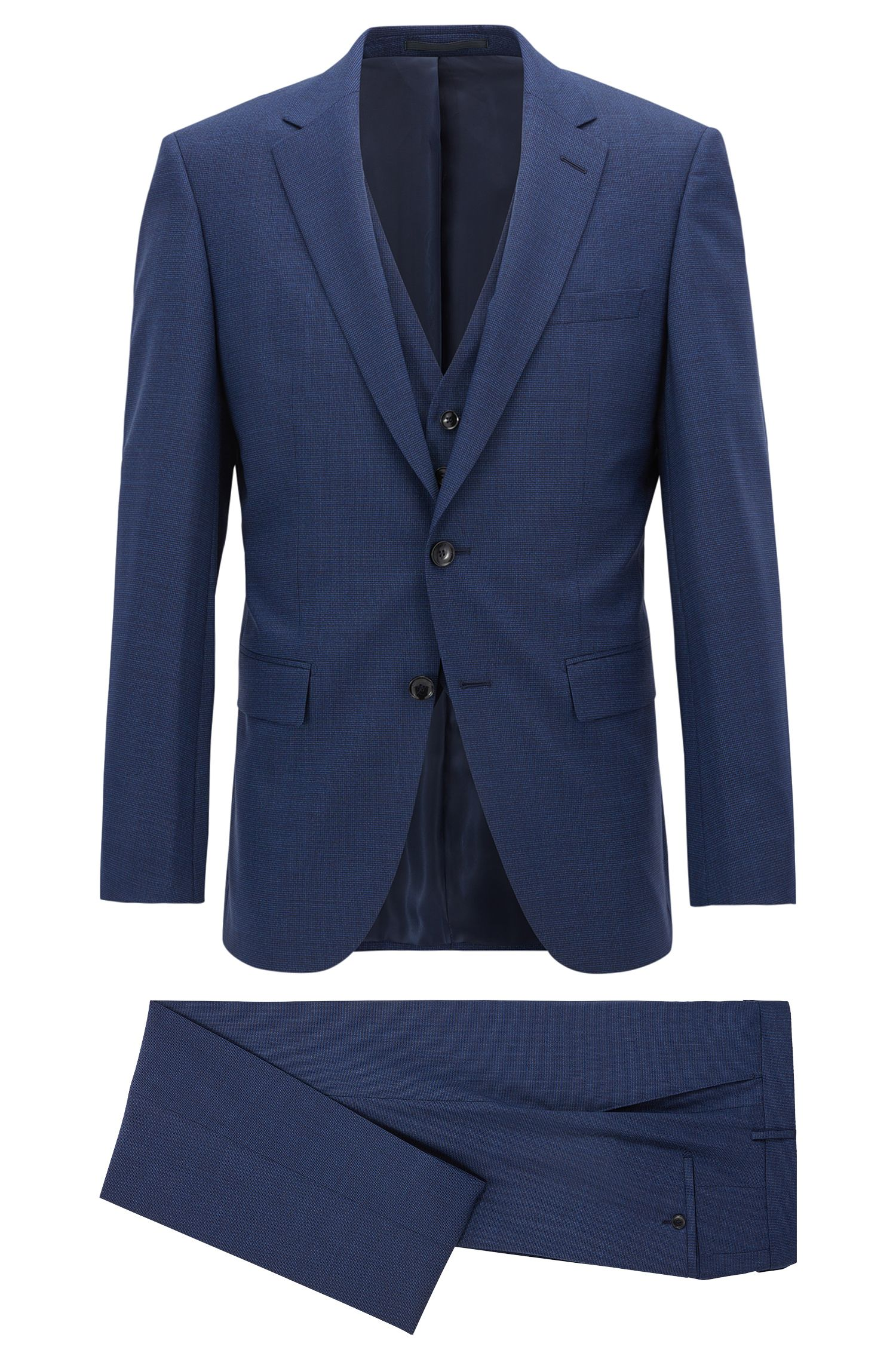 Virgin Wool 3-Piece Suit, Slim Fit | T-Harvers/Glover WE
