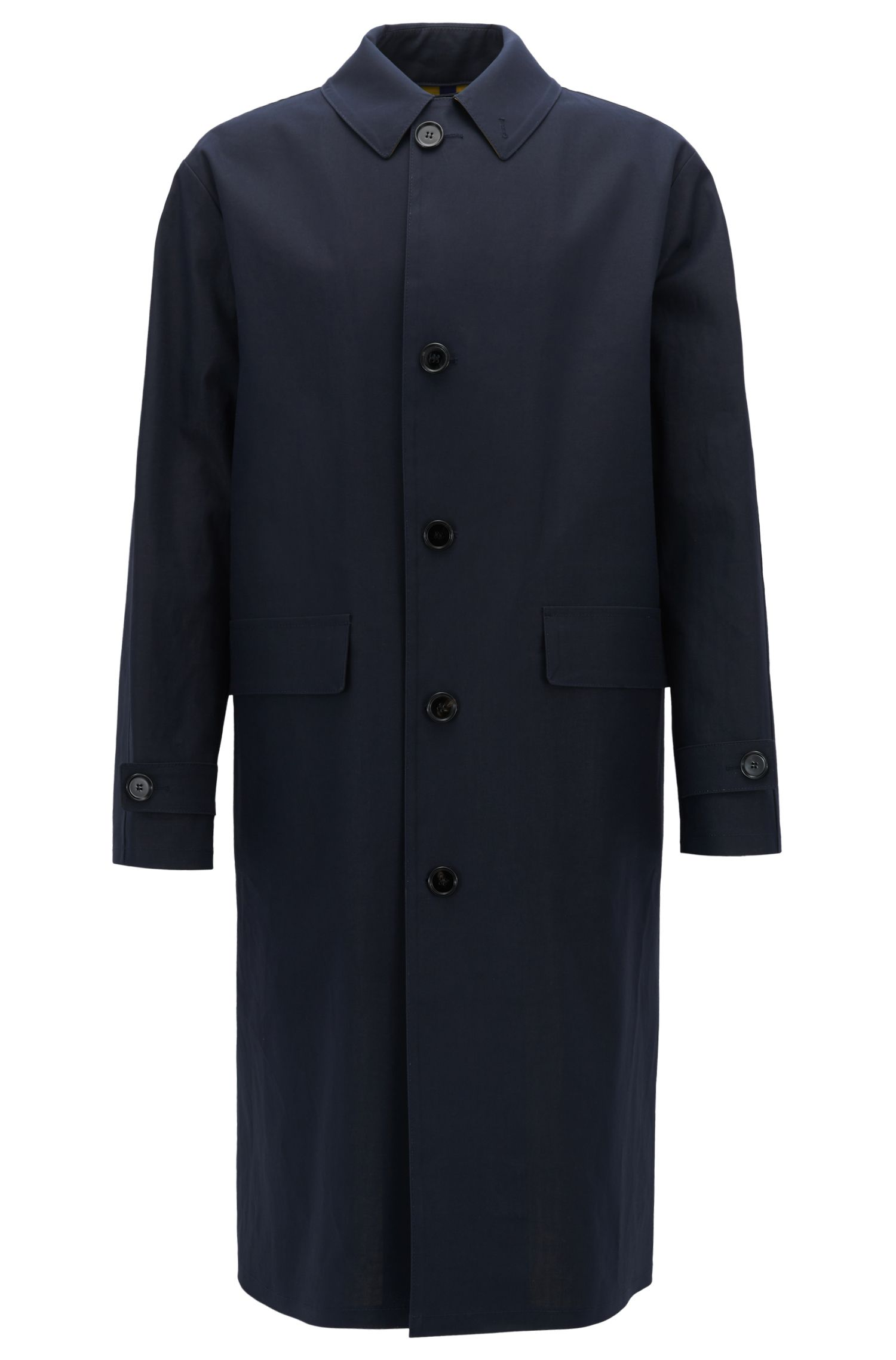 Water-Repellent Cotton Coat | Garris, Yellow