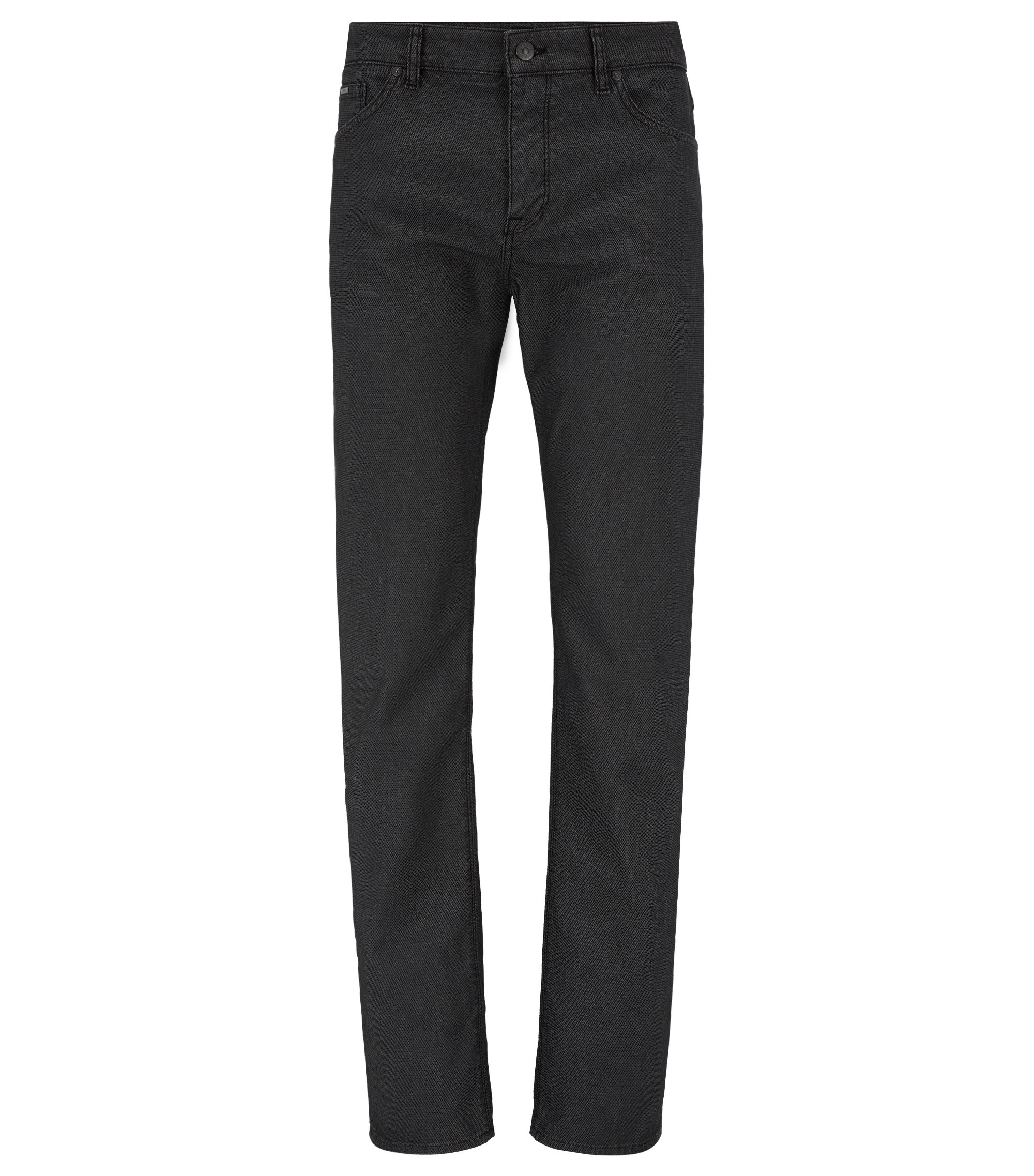 Cotton Blend Pant, Regular Fit | Maine, Black