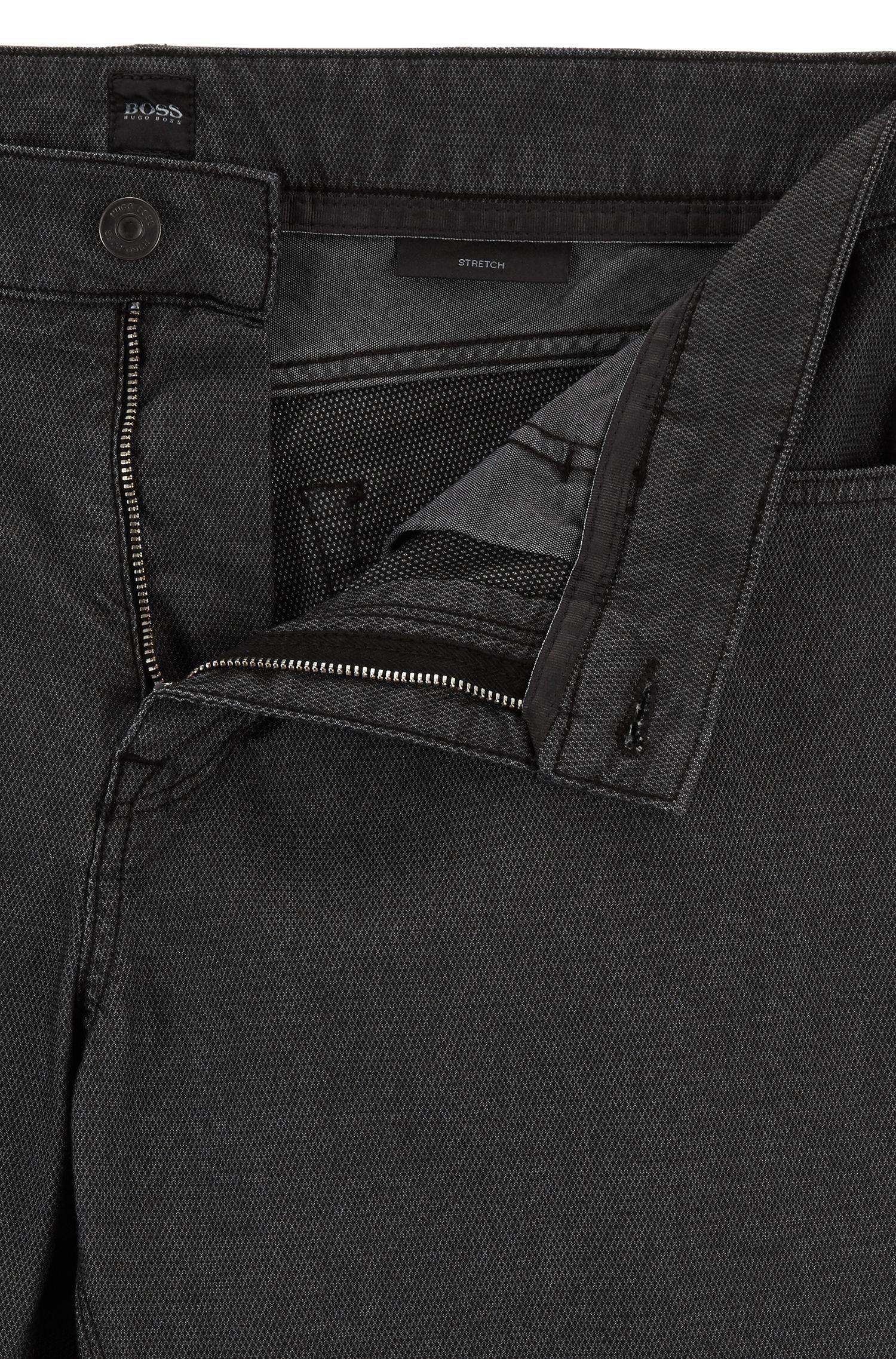 Cotton Blend Pant, Regular Fit | Maine, Black