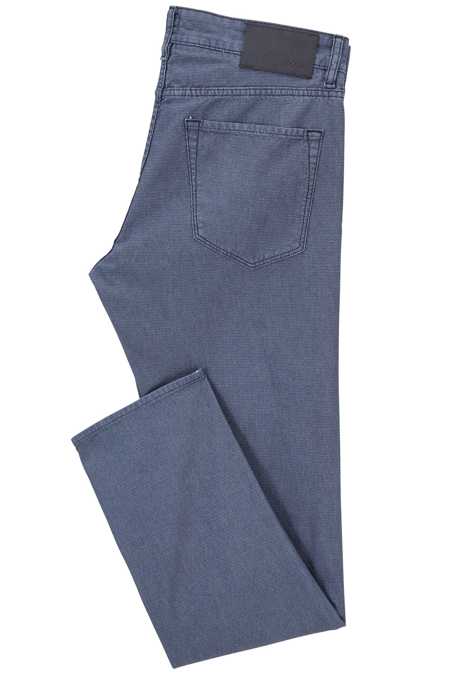 Cotton Blend Pant, Regular Fit | Maine, Dark Blue